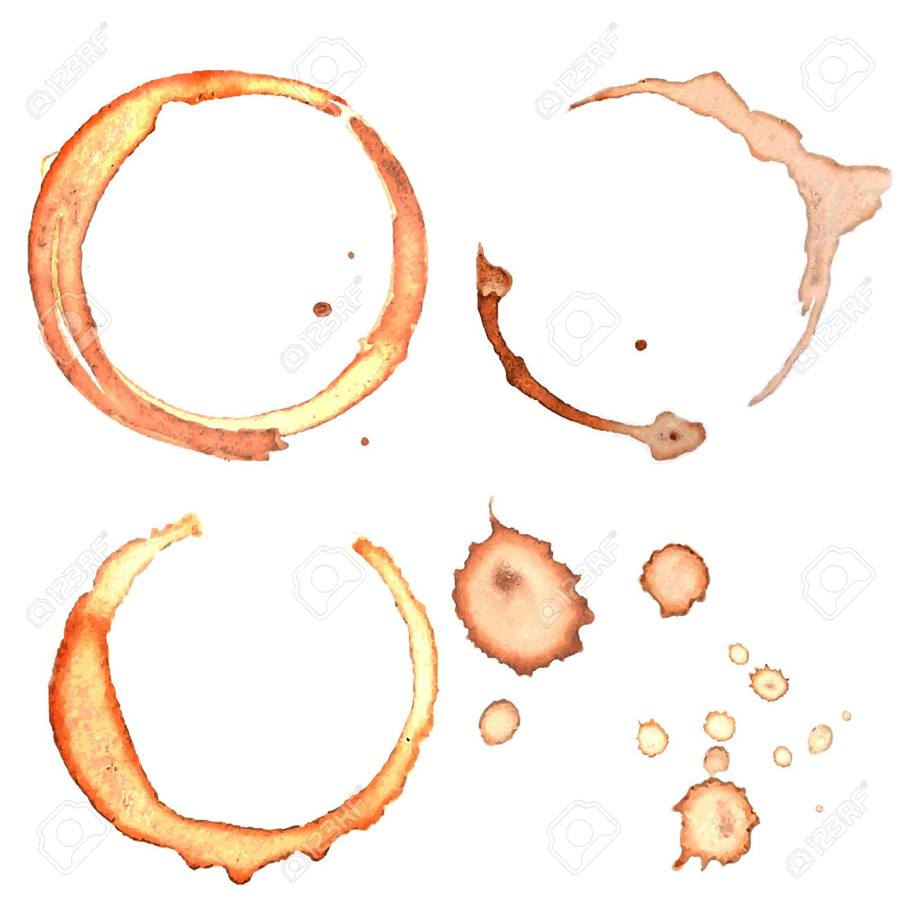 Coffee Stain Rings Vector - 31414969