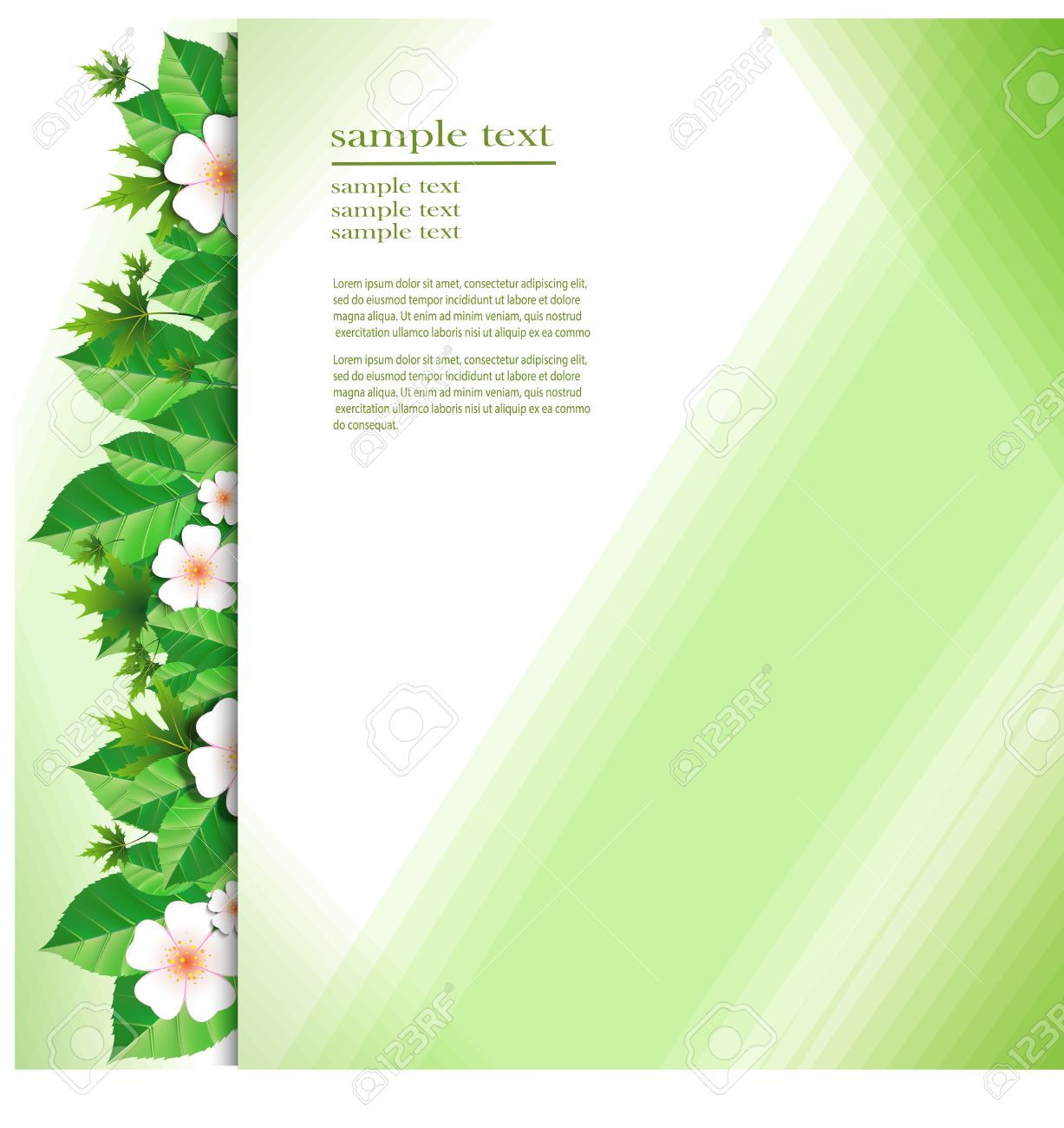 V card background images - Green Flower Background Greeting Card Abstract Floral Design In White Green And Light