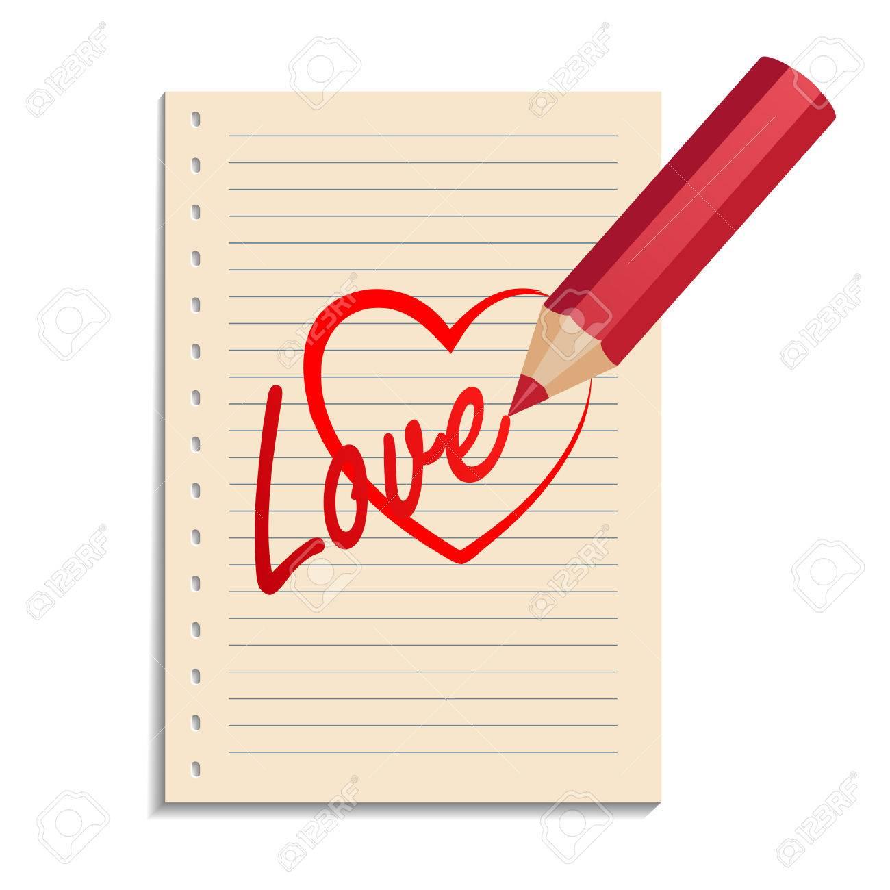 Lápiz Dibujar El Corazón Roto Ilustración Vectorial Ilustraciones