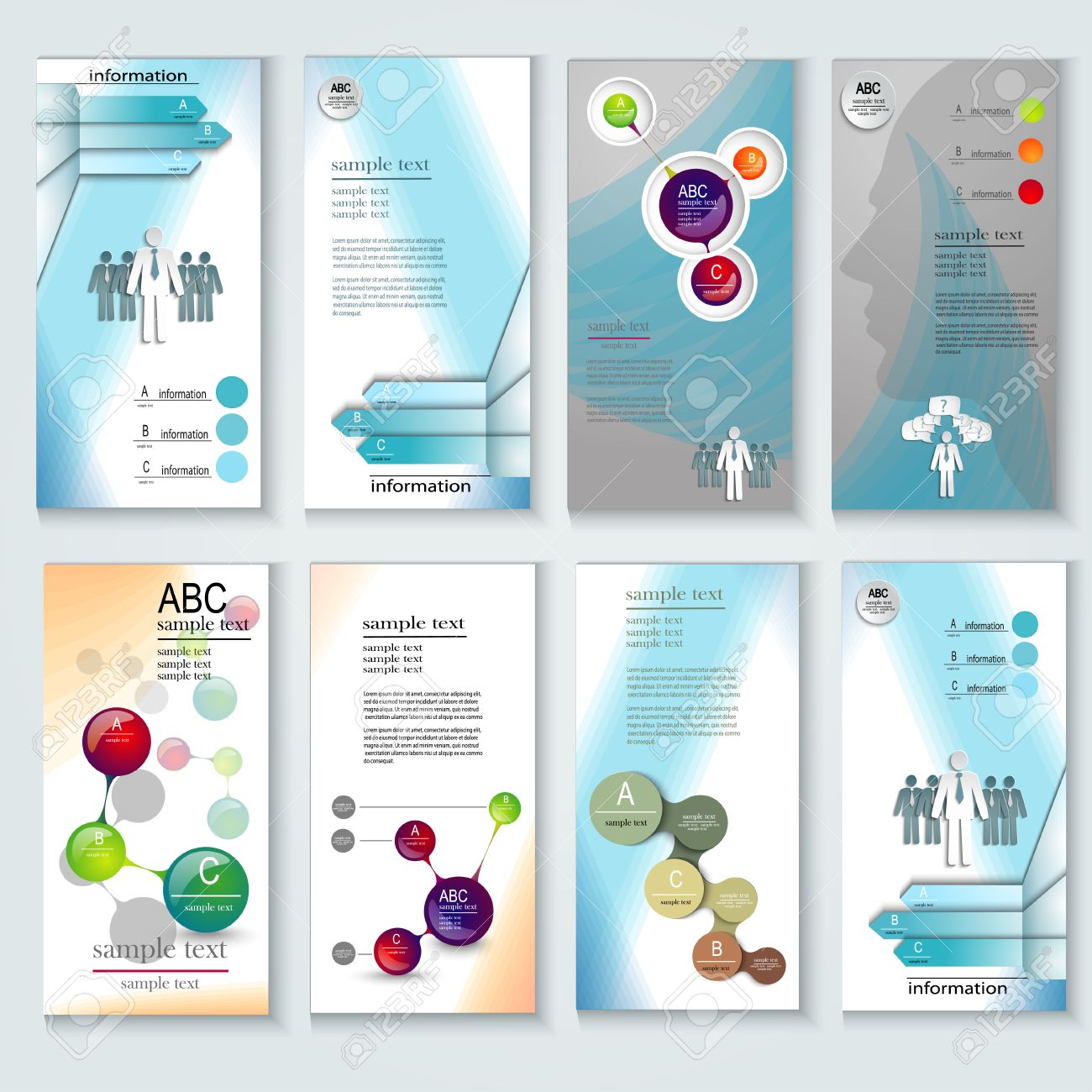 set of brochure design templates. design elements, creative, Presentation templates