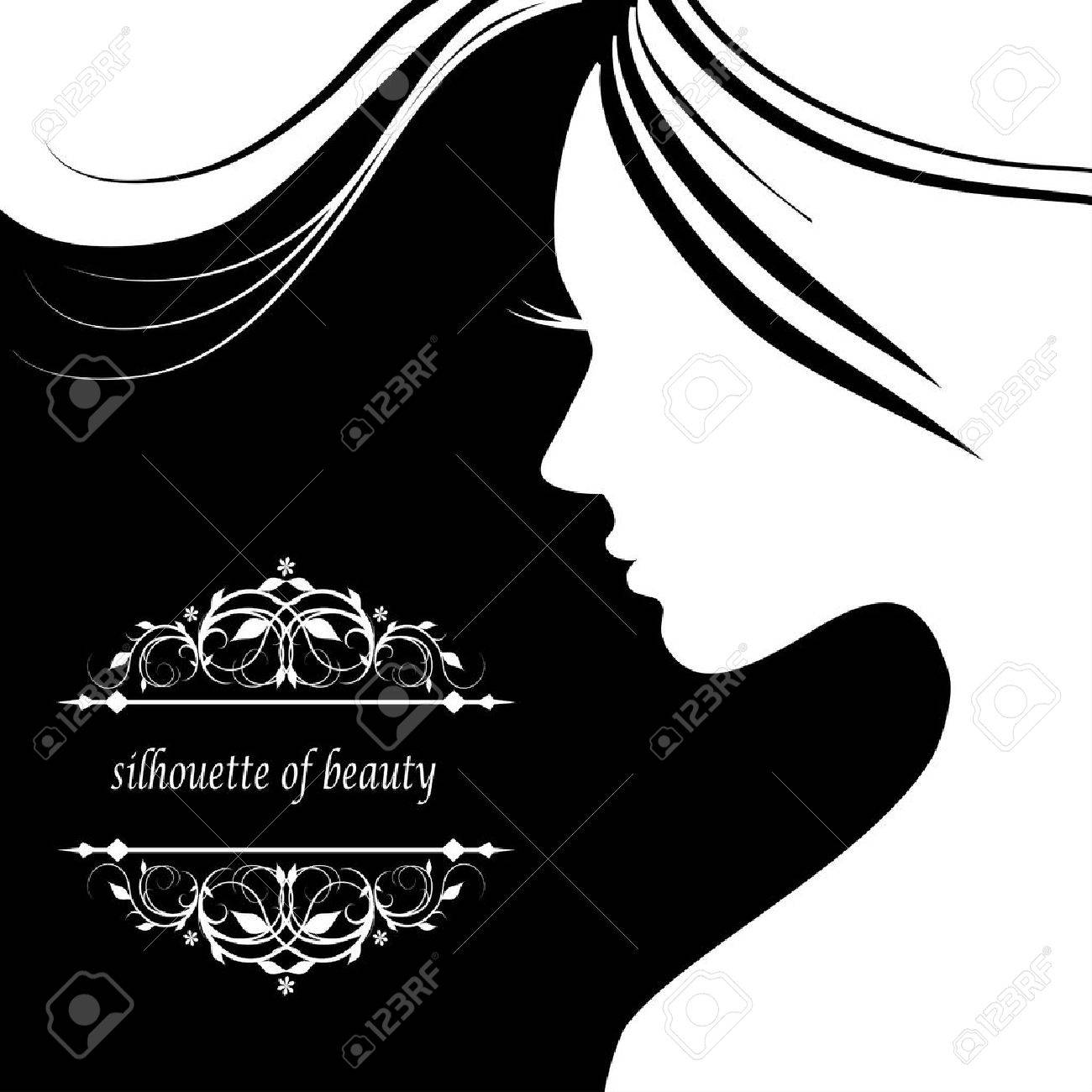 Vector illustration of Woman's silhouette with beautiful hair - 39520520