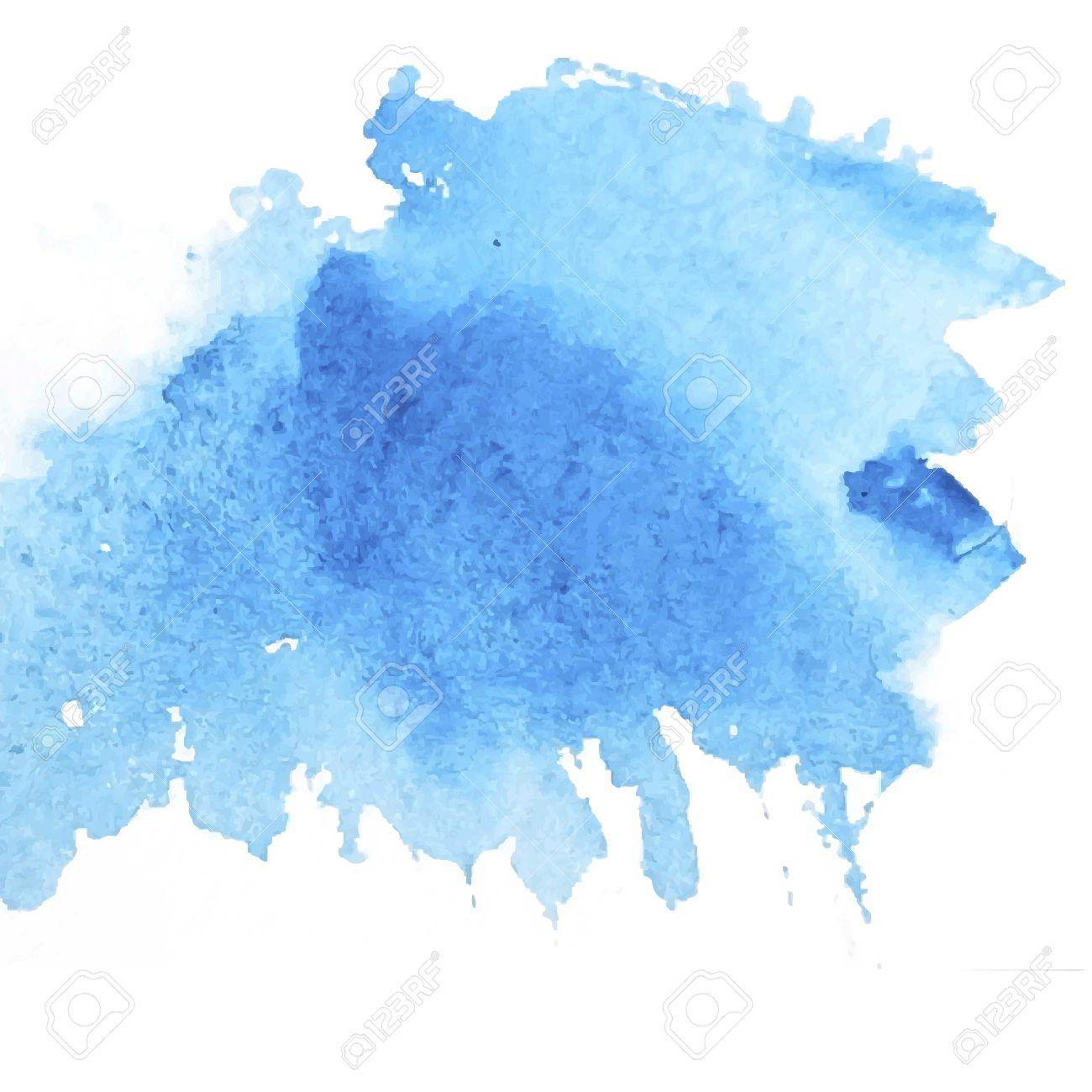Light water blue watercolor banner for web design. Vector illustration. - 39520531