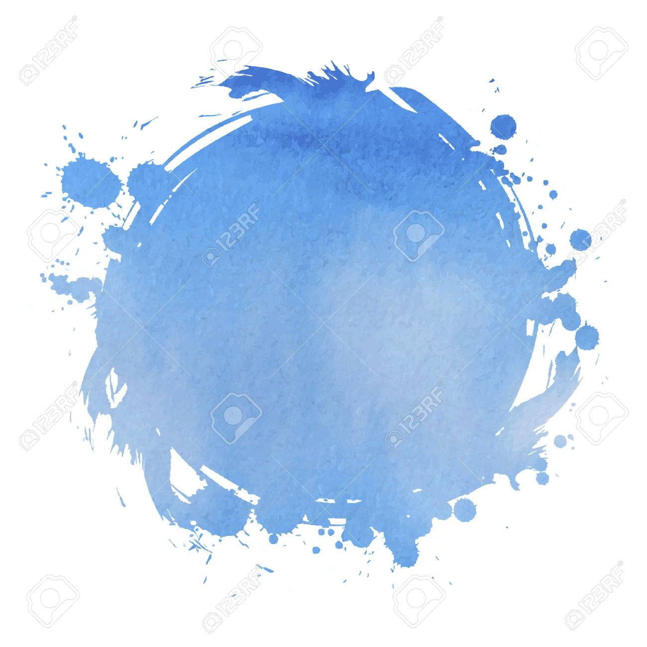 Blue square. Abstract stylish watercolor background. Vector illustration - 41188171