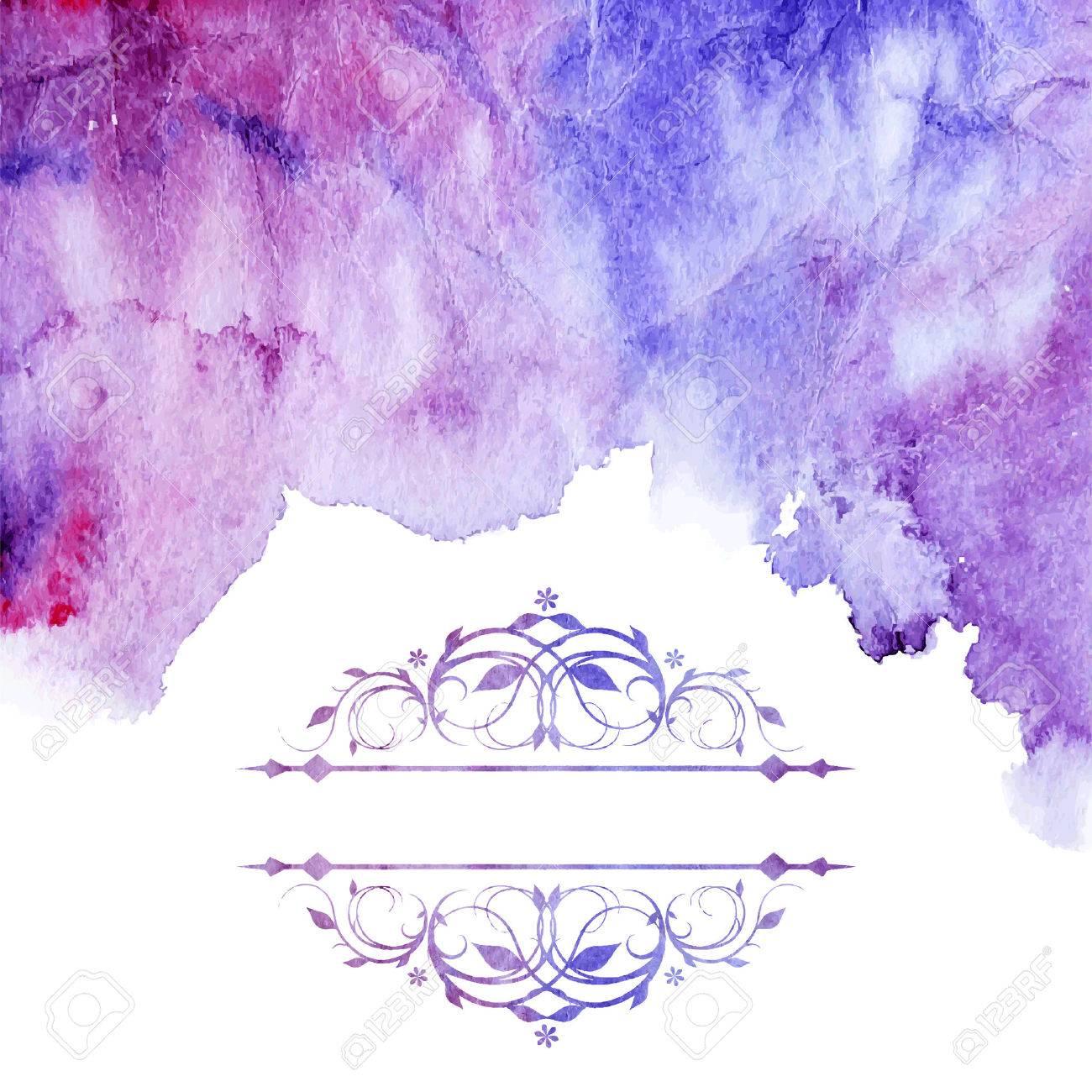 Abstract watercolor splash. Watercolor drop. - 41500550