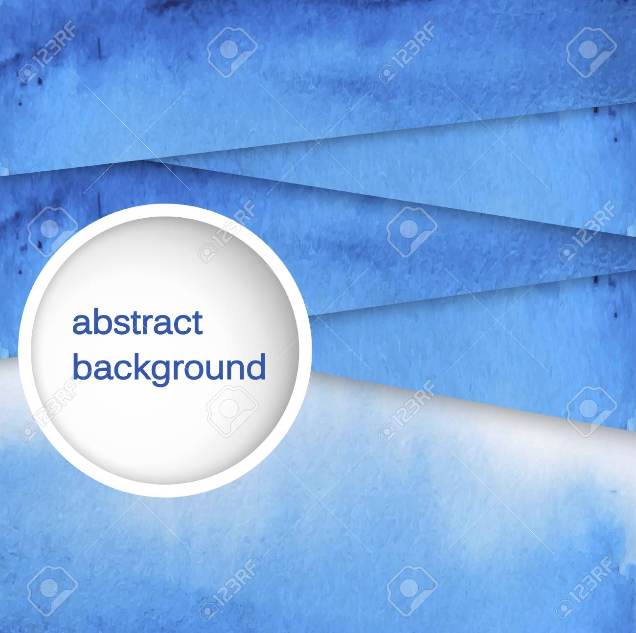 Vector abstract hand drawn watercolor background. Blue watercolor banner template. Painting. Watercolor splash. Vector illustration with empty space for your text. - 41501728