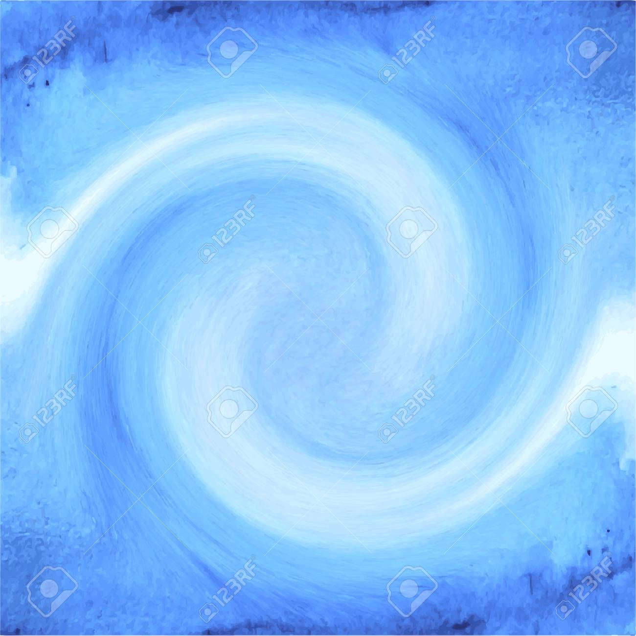 Abstract blue watercolor background for your design. Abstract vector template with place for your text. Banner template. Vector illustration. Hand painted background. - 41502294