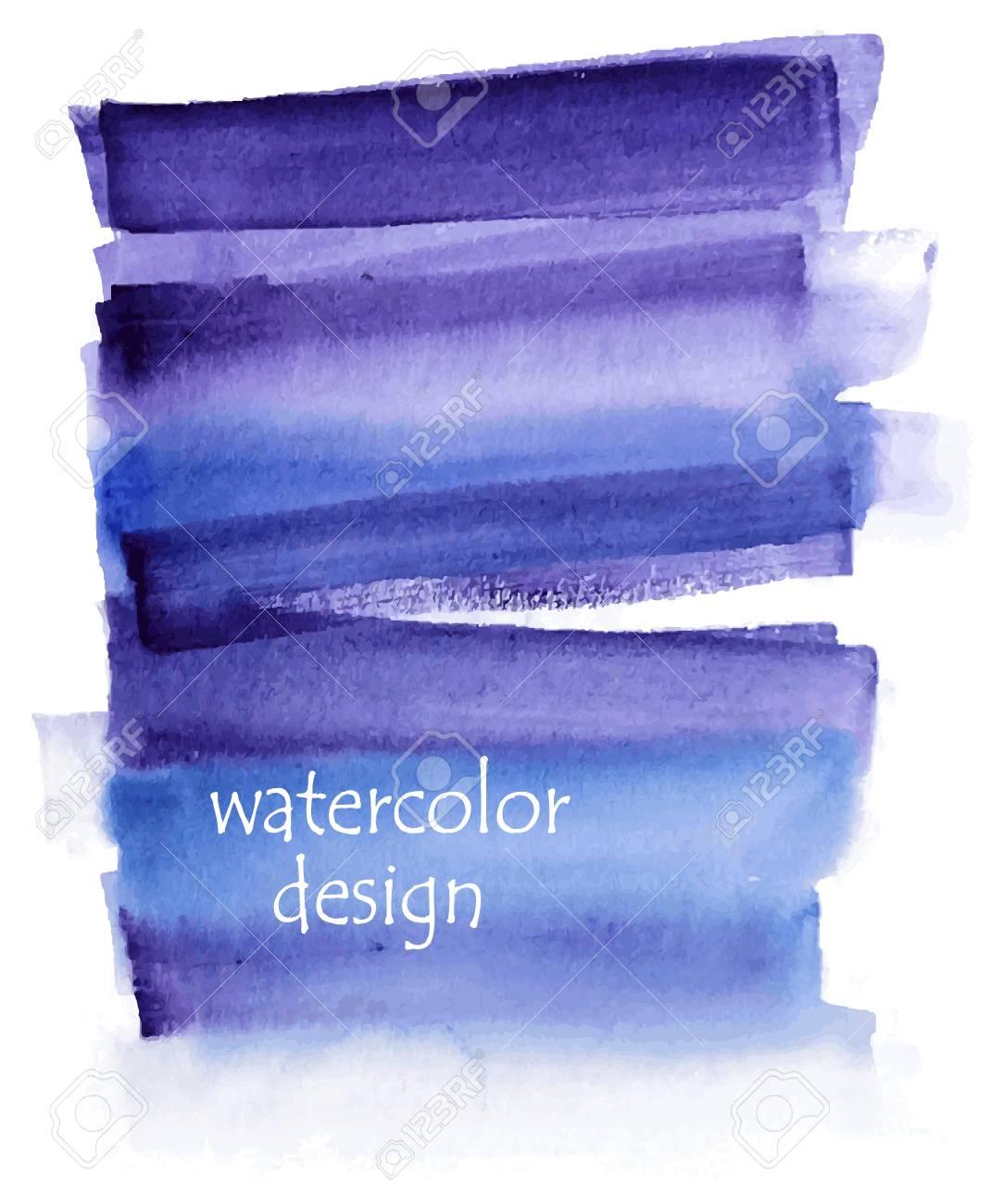 Tarjeta De Invitación De Boda Con Acuarela Azul Sacudir Sobre Fondo Ilustración Del Vector