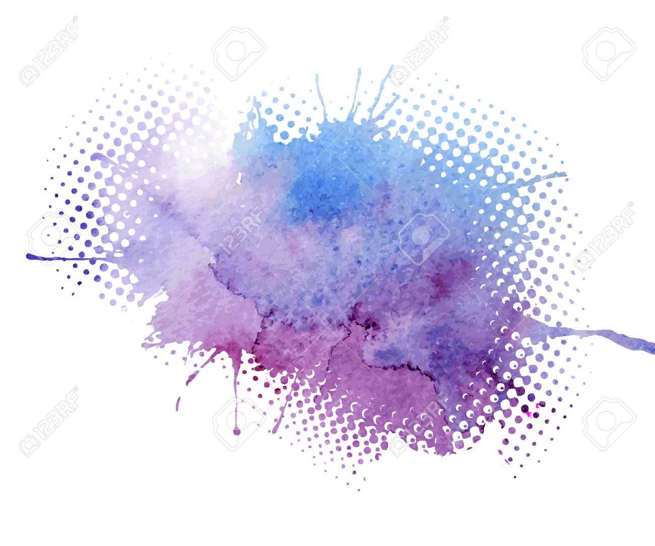 Abstract watercolor splash. Watercolor drop. - 41817350