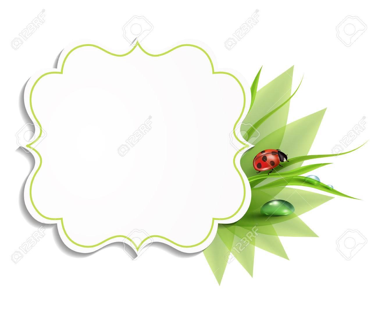 Paper origami fresh grass banner stock vector illustration of.