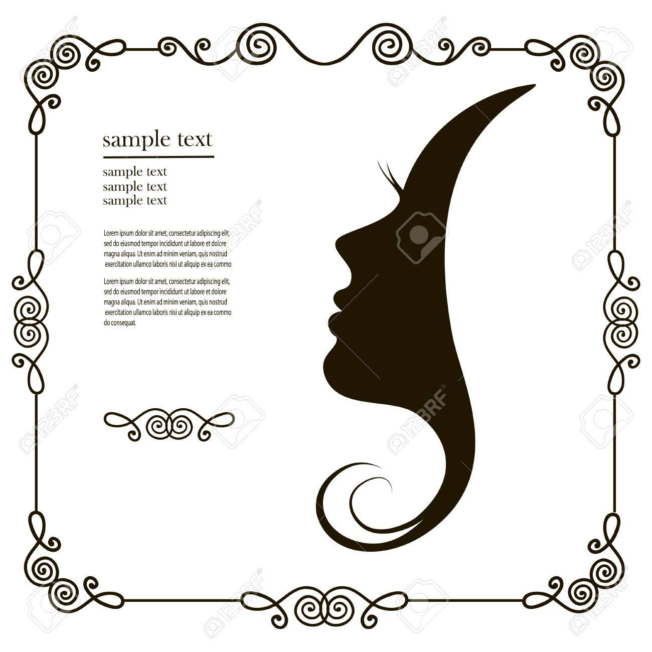Woman Chat Vector Logo Design Template Girl Silhouette Cosmetics
