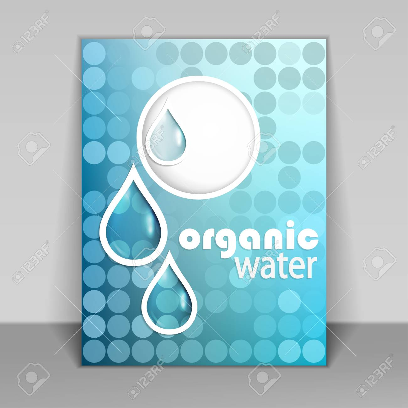 Fresh eco friendly natural water drop symbol cycle a brochure fresh eco friendly natural water drop symbol cycle a brochure or flyer cover biocorpaavc Image collections
