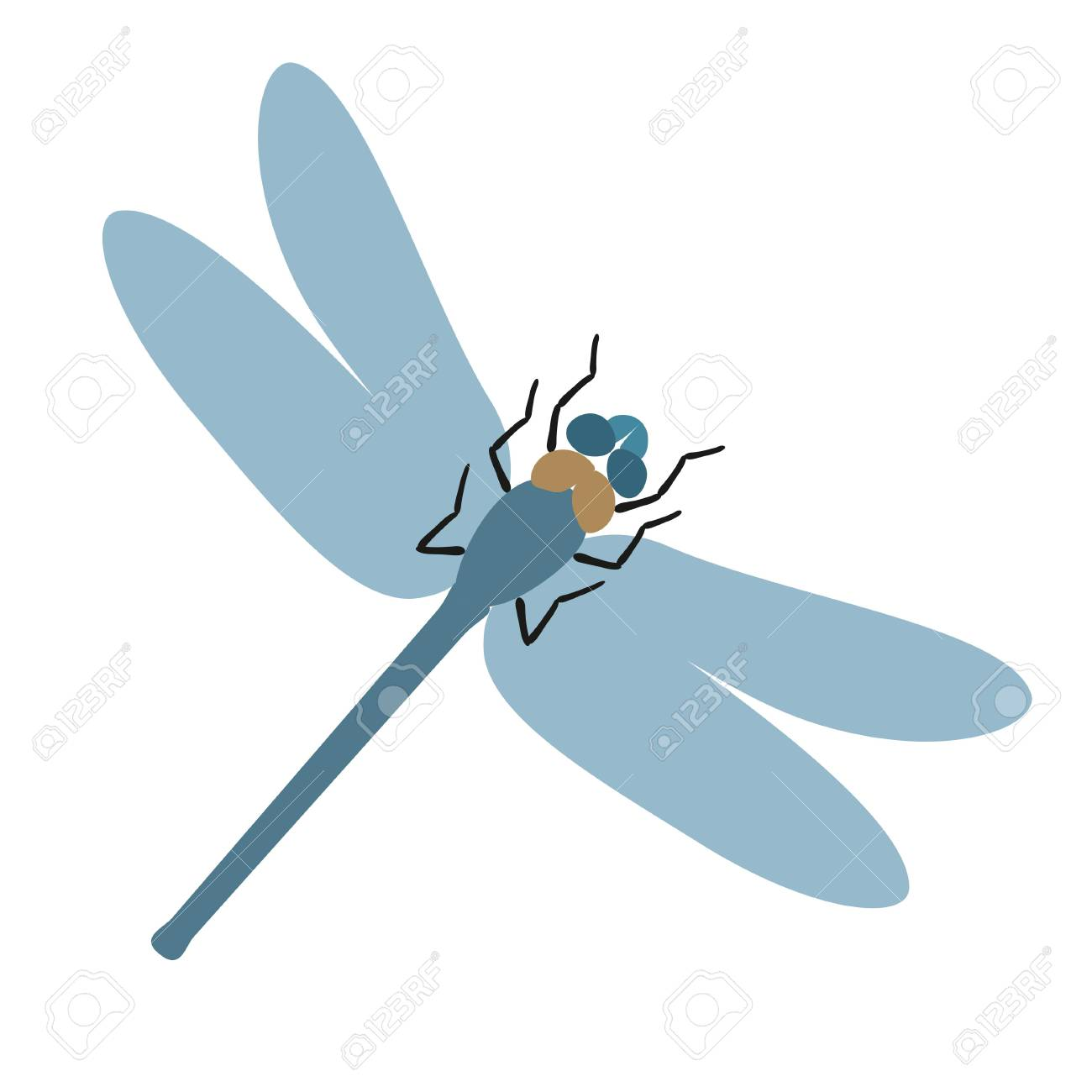 flat dragonfly vector illustration royalty free cliparts vectors rh 123rf com dragonfly vector free dragonfly vector art free