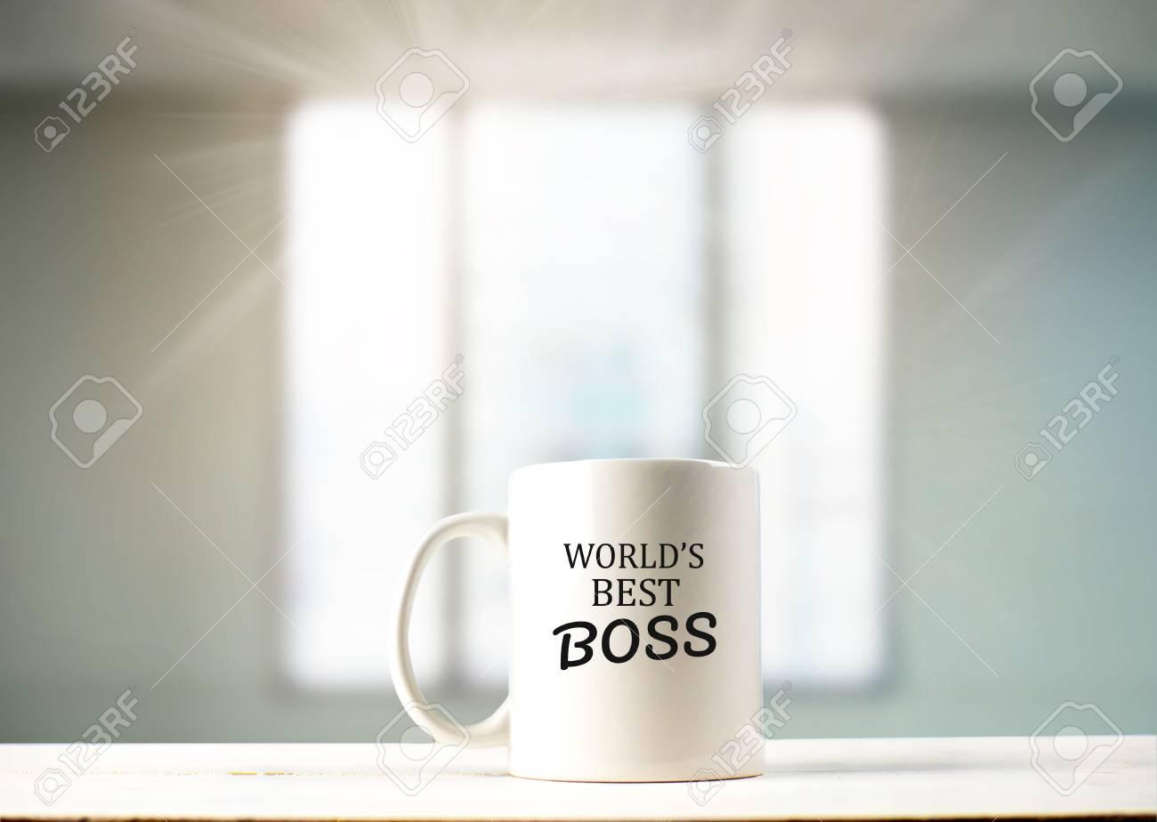 World's best boss text on coffee mug in coffeee - 103636580