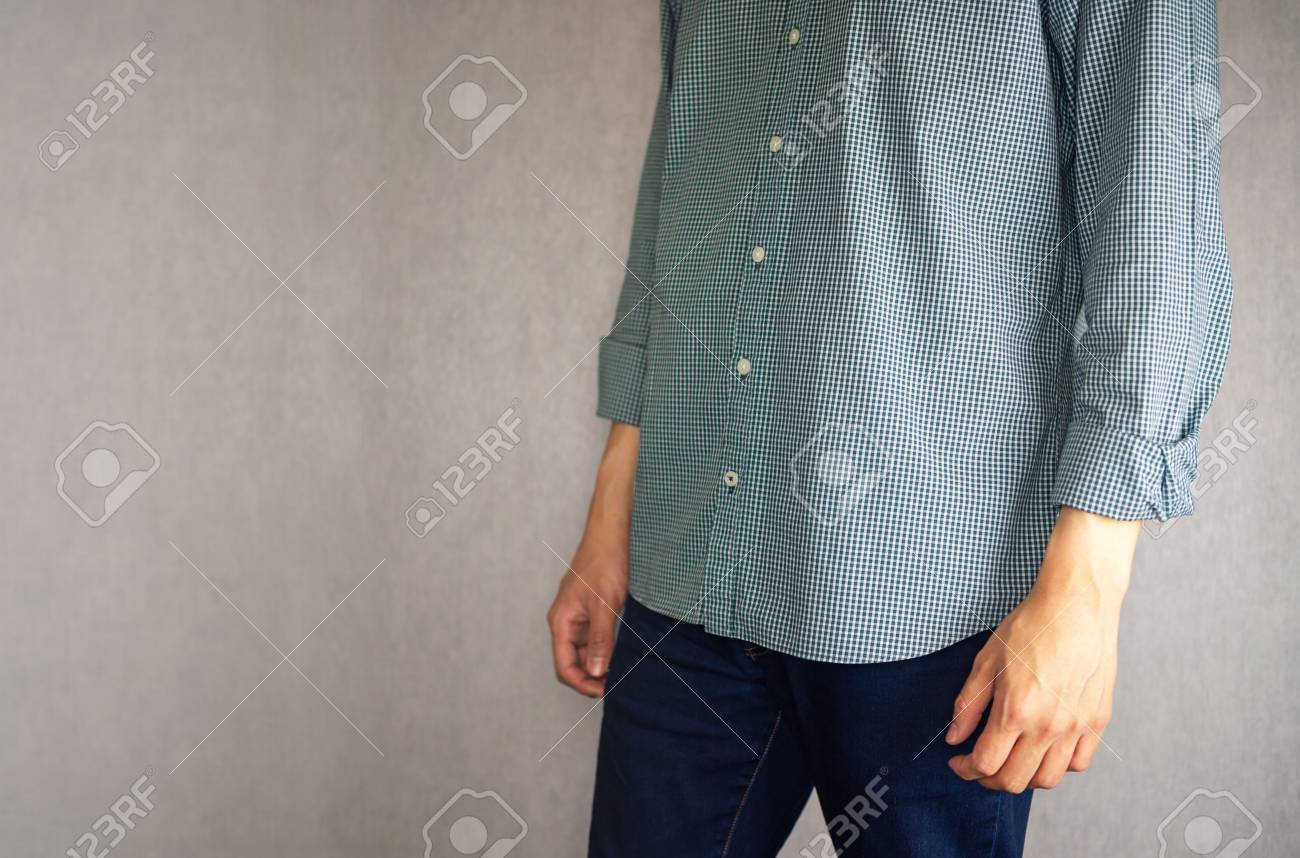 Not Tucked In Shirt By Casual Man Stock Photo Picture And Royalty