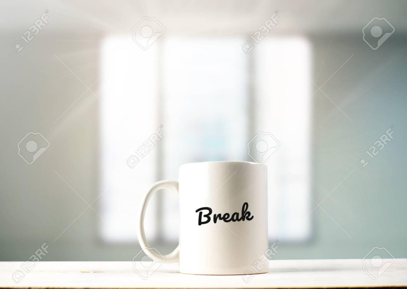 Break In Text Mug The Office Coffee On 7yYfb6g