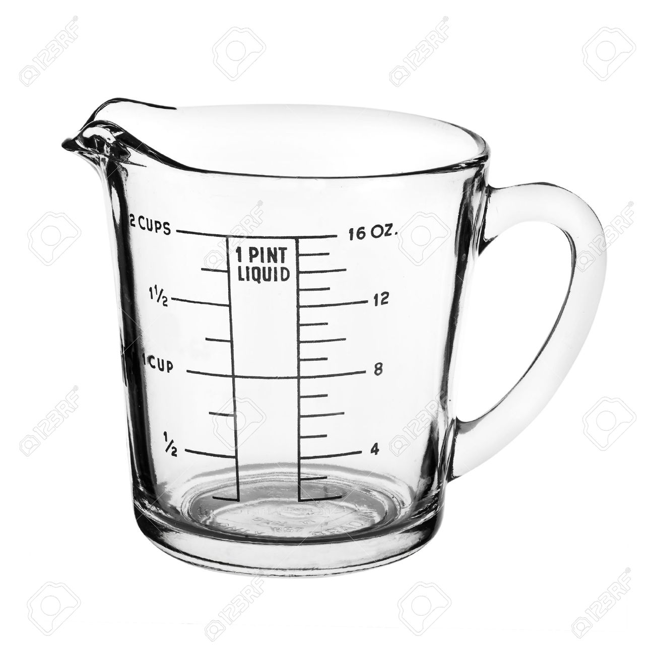 Measuring cup isolated on white background - 41798923