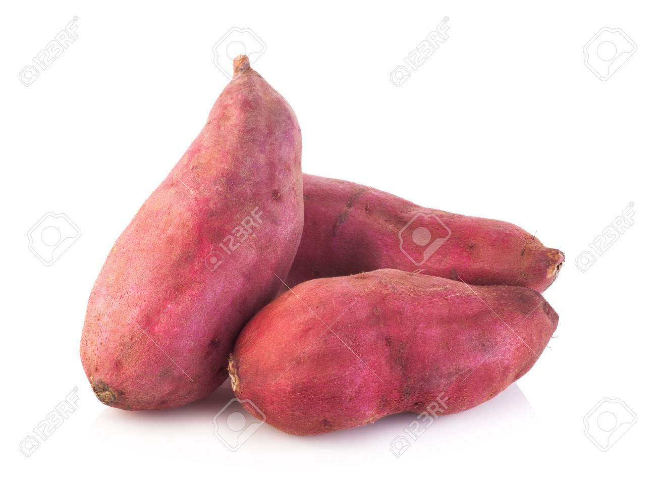 sweet potato on the white background - 44152818