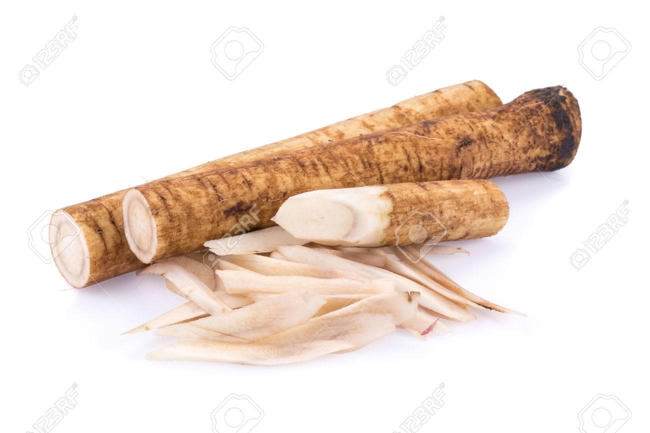 Fresh Burdock roots on white background. - 52341677