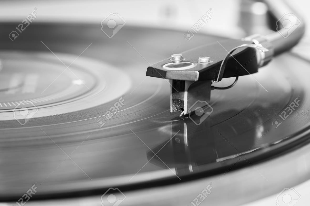 Gramophone player close up. - 56547243