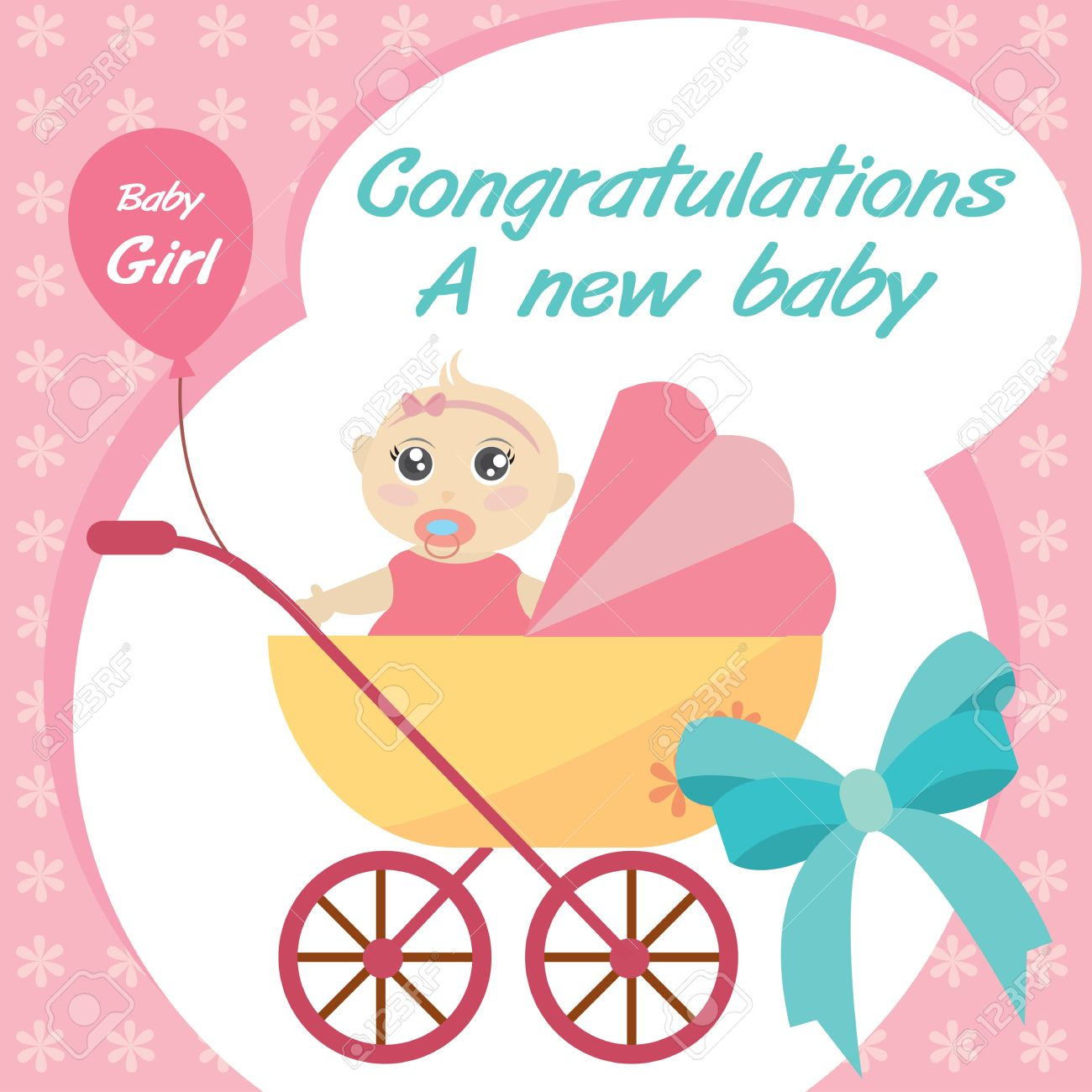 New Baby Girl Card Boatremyeaton