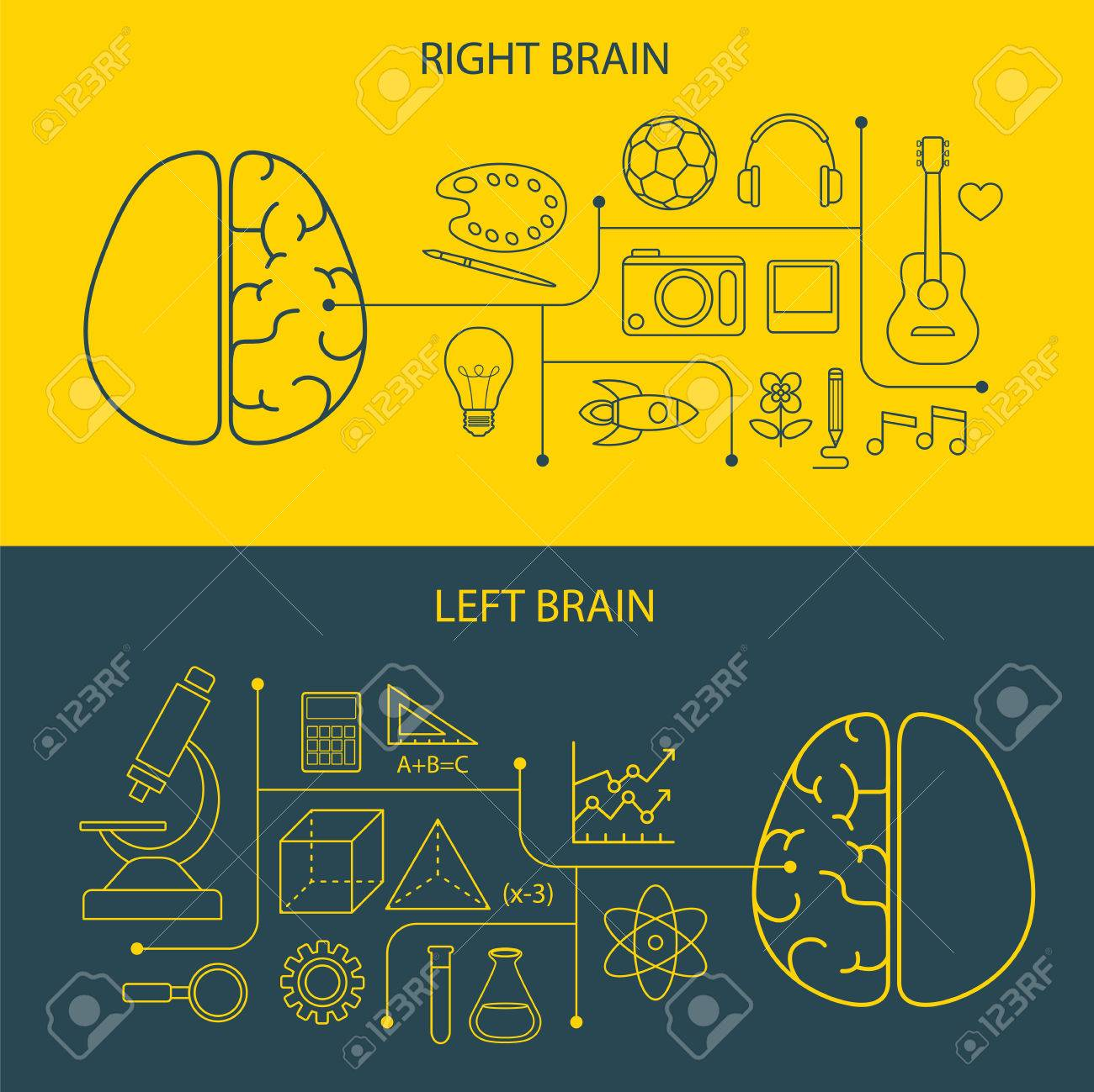 left and right brain functions concept Stock Vector - 39231903