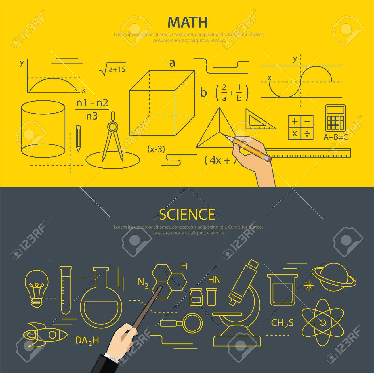 math and science education concept Stock Vector - 39216203