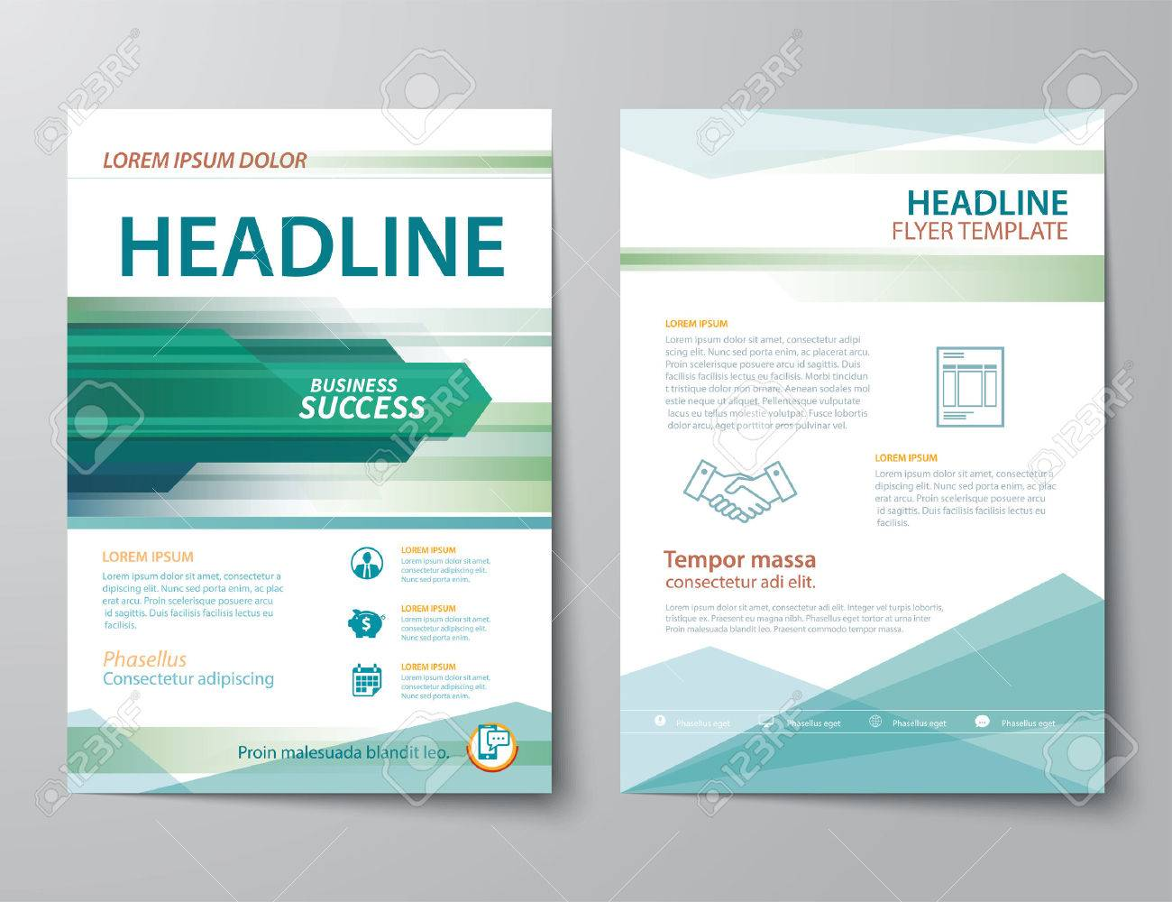 Set of business magazine cover flyer brochure flat design set of business magazine cover flyer brochure flat design templates stock vector 41817764 cheaphphosting Images