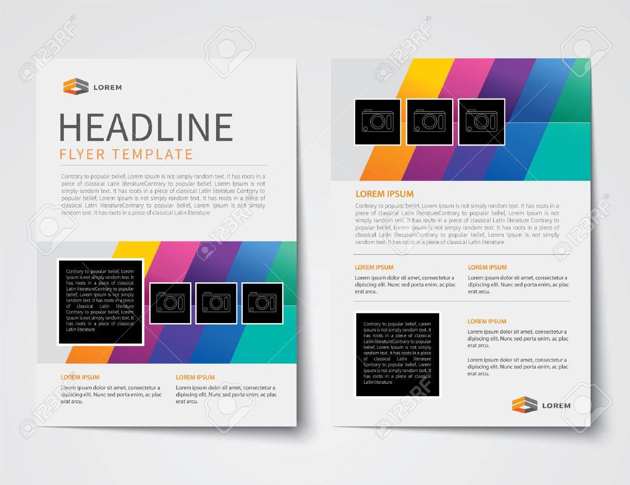 set of business magazine cover flyer brochure flat design vector set of business magazine cover flyer brochure flat design templates