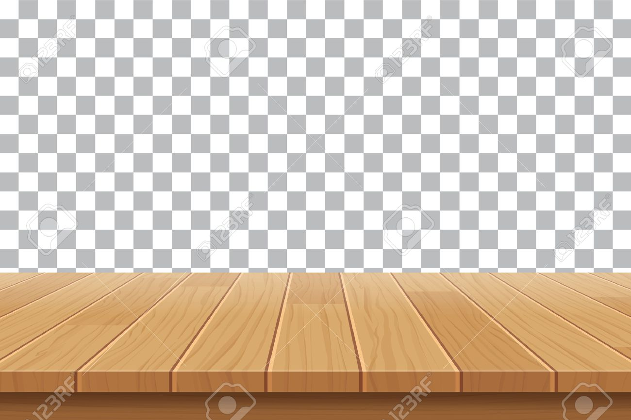 Stock photo vector wood table top on isolated background