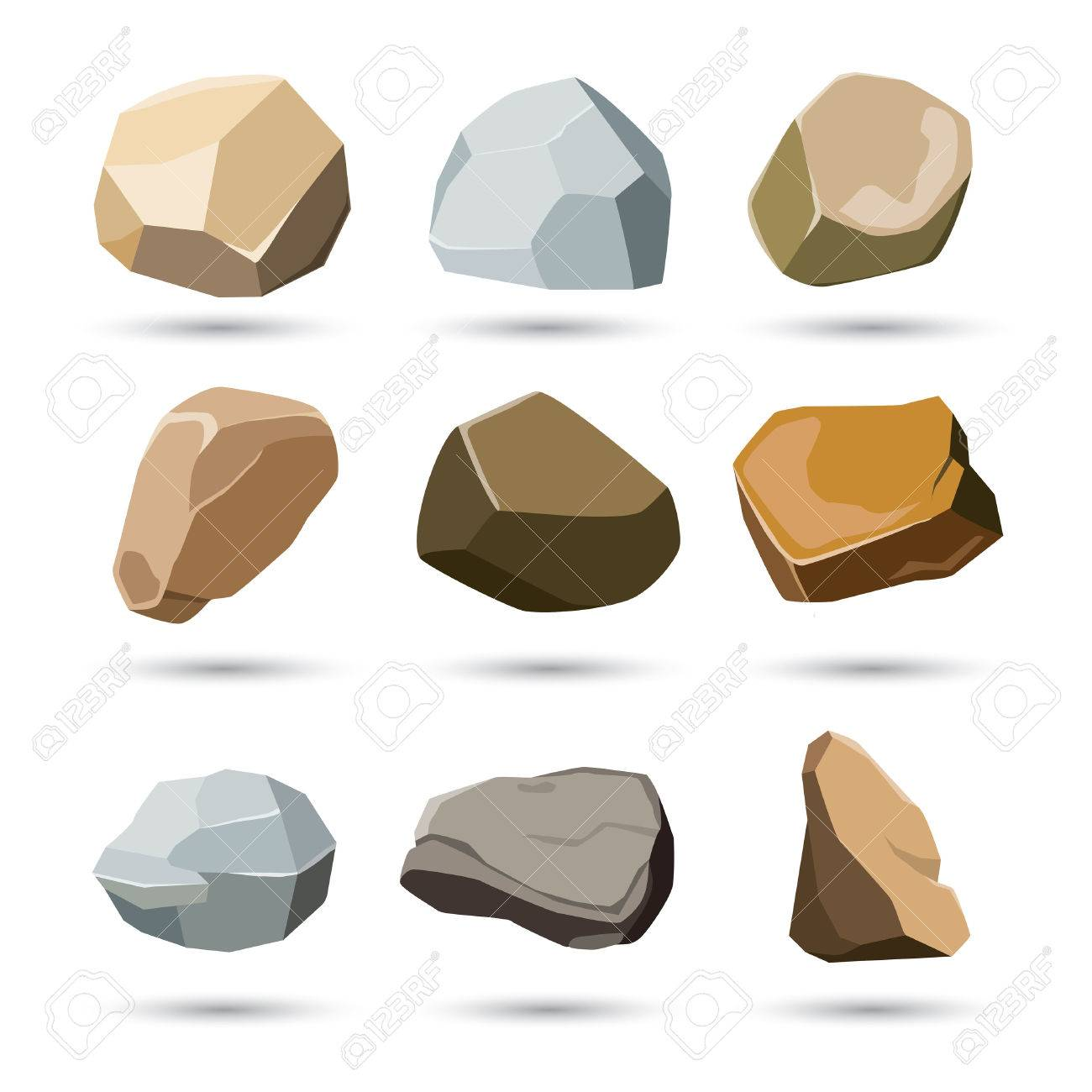 rock and stone set - 58388078