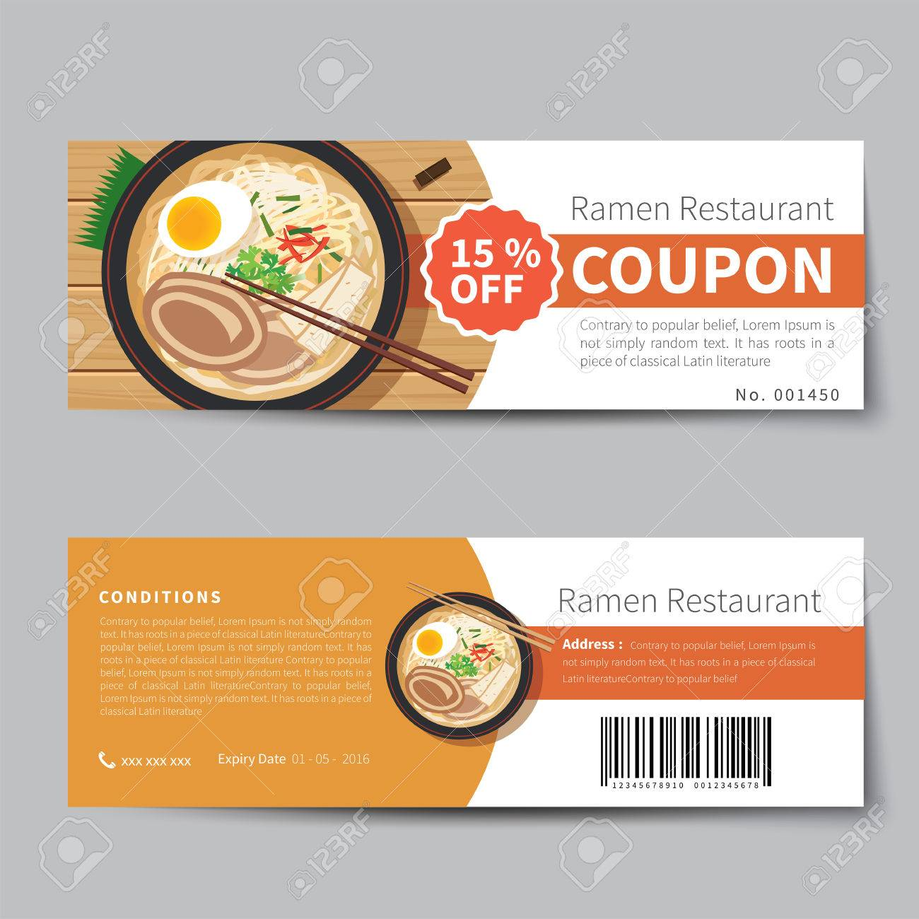 Design Templates Voucher Templates Restaurant Voucher Template 58388114  Japanese Food Coupon Discount Template Flat Design Stock