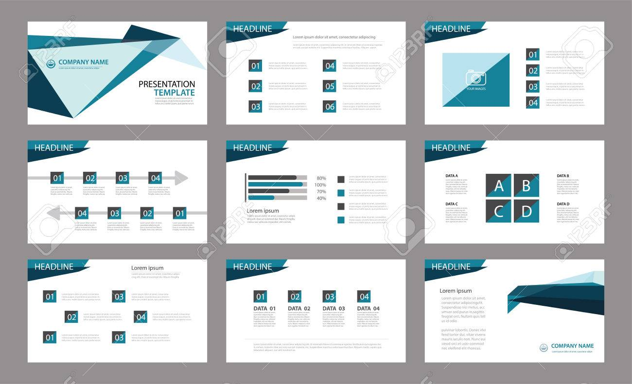 Set of presentation template.Use in annual report, corporate, flyer, marketing - 63665924