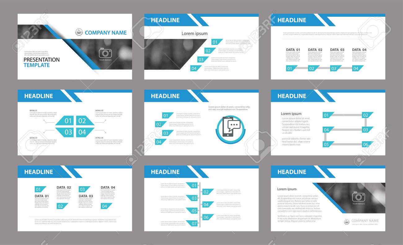 set of presentation templatee in annual report, corporate, Report Presentation Template, Powerpoint templates