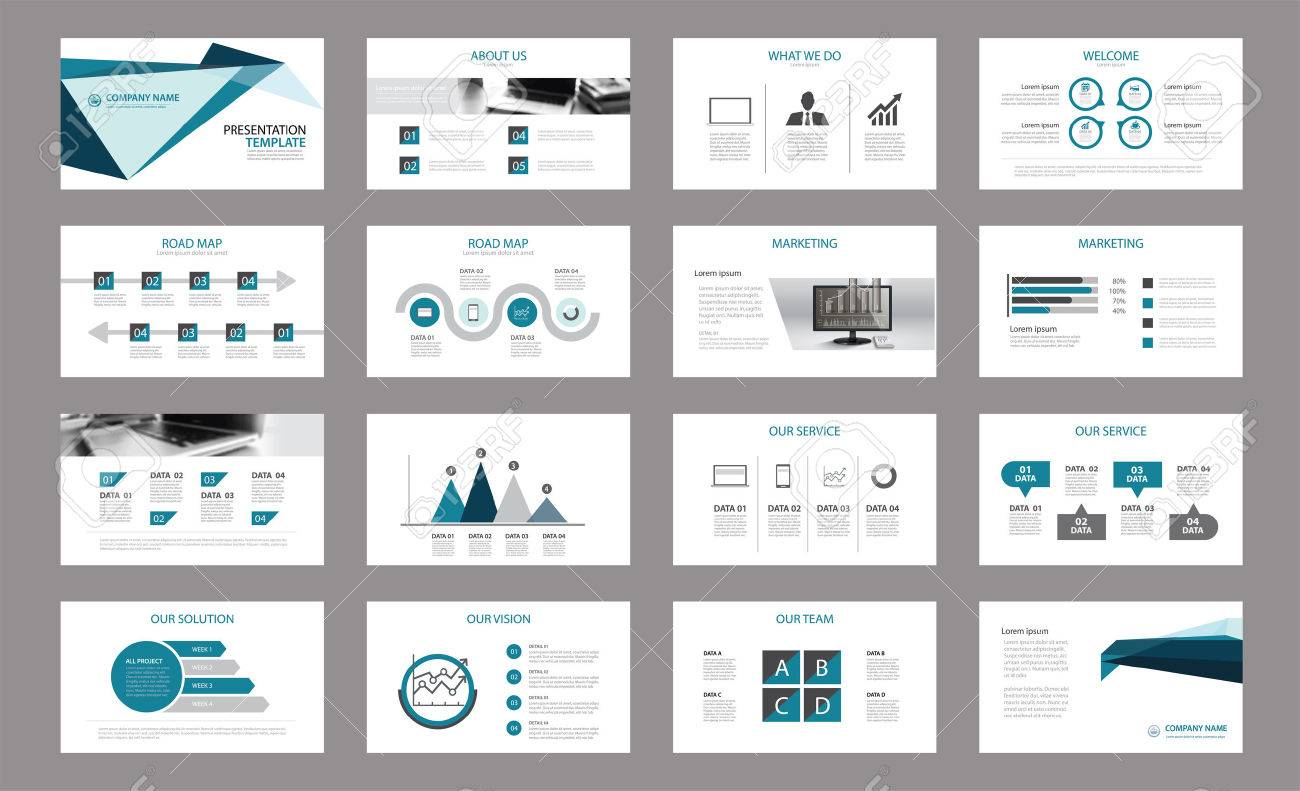 Set Of Presentation Template.Use In Annual Report, Corporate ...