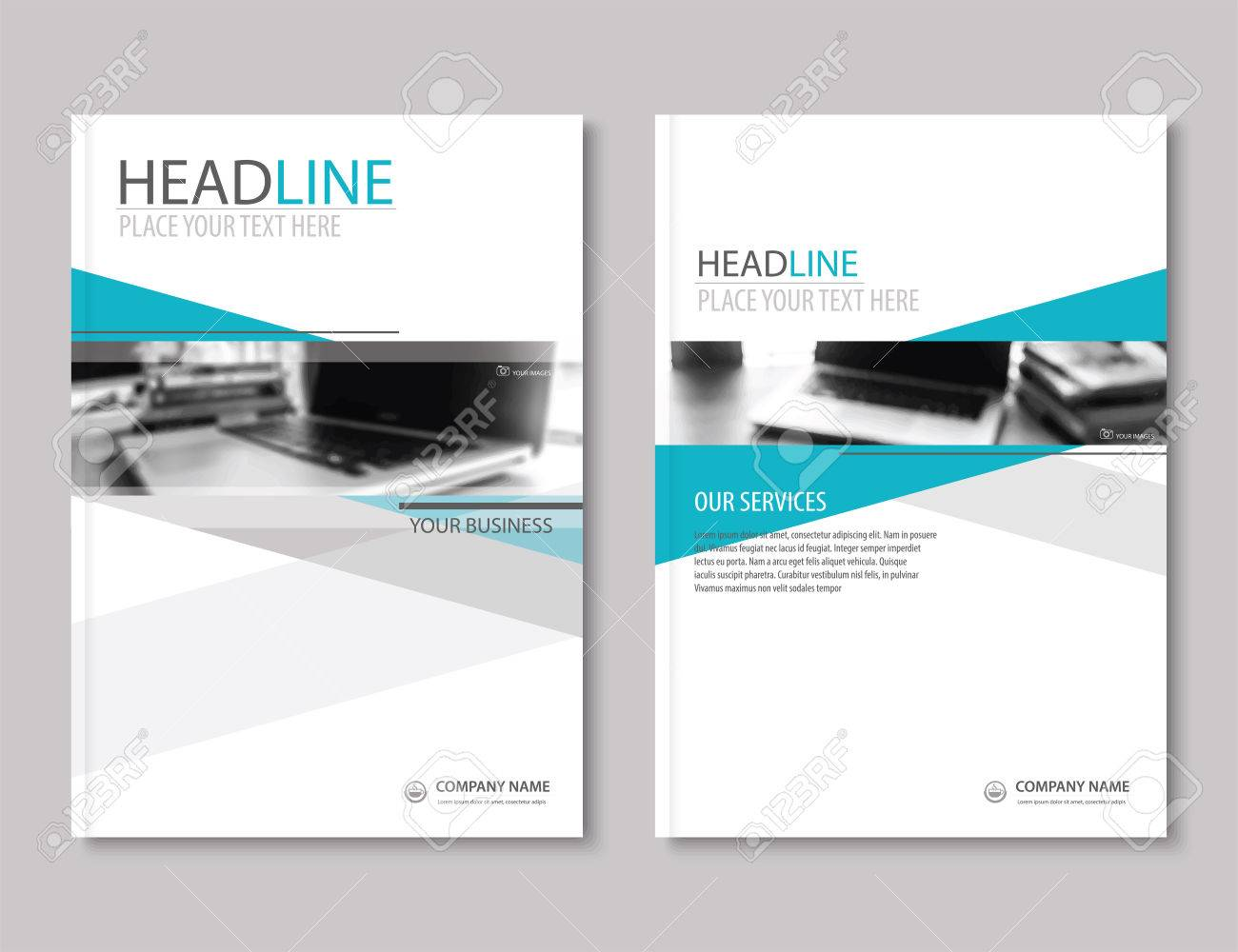 Annual report brochure flyer design template. Company profile business headline.Leaflet cover presentation flat background. - 62567484