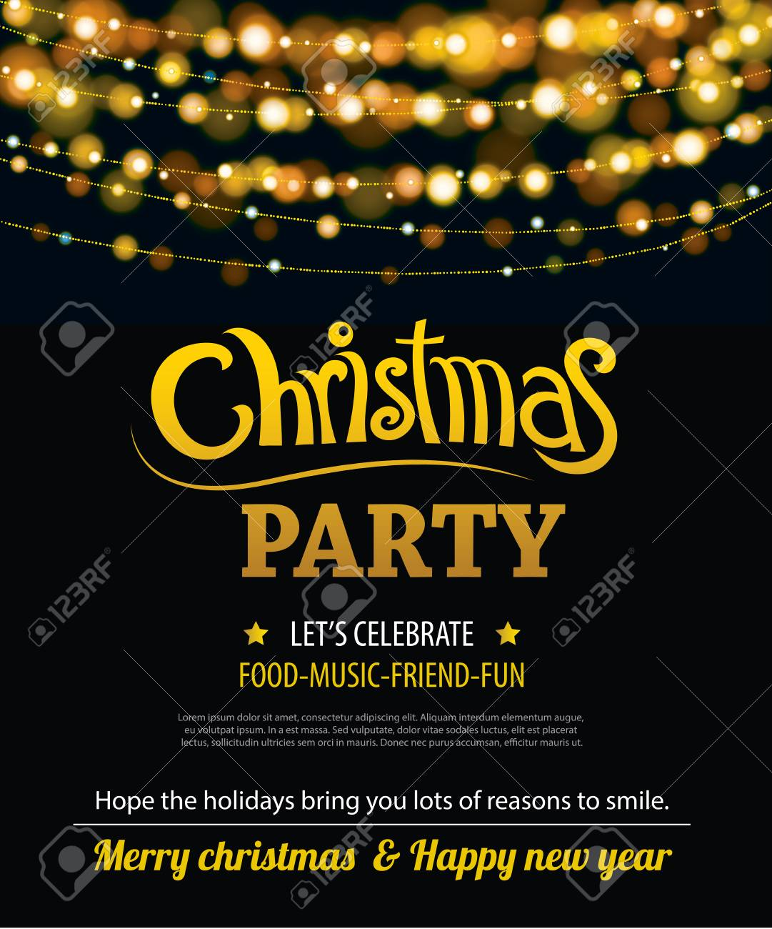 Christmas Party Poster.Invitation Merry Christmas Party Poster Banner And Card Design