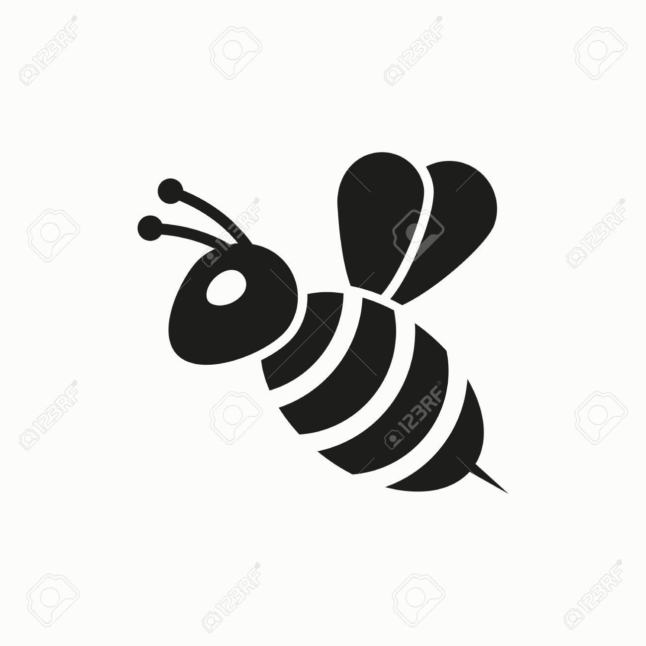 Bee flat design illustration. Simple vector icon. - 114801772