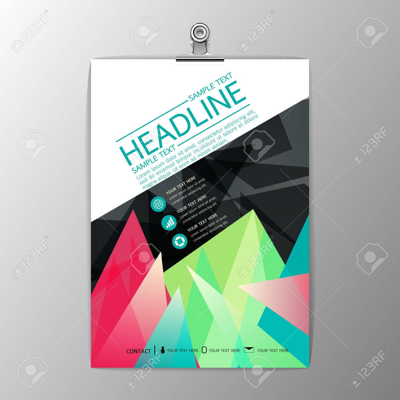 Abstract Modern Brochure Template Design Business Corporate - Modern brochure template