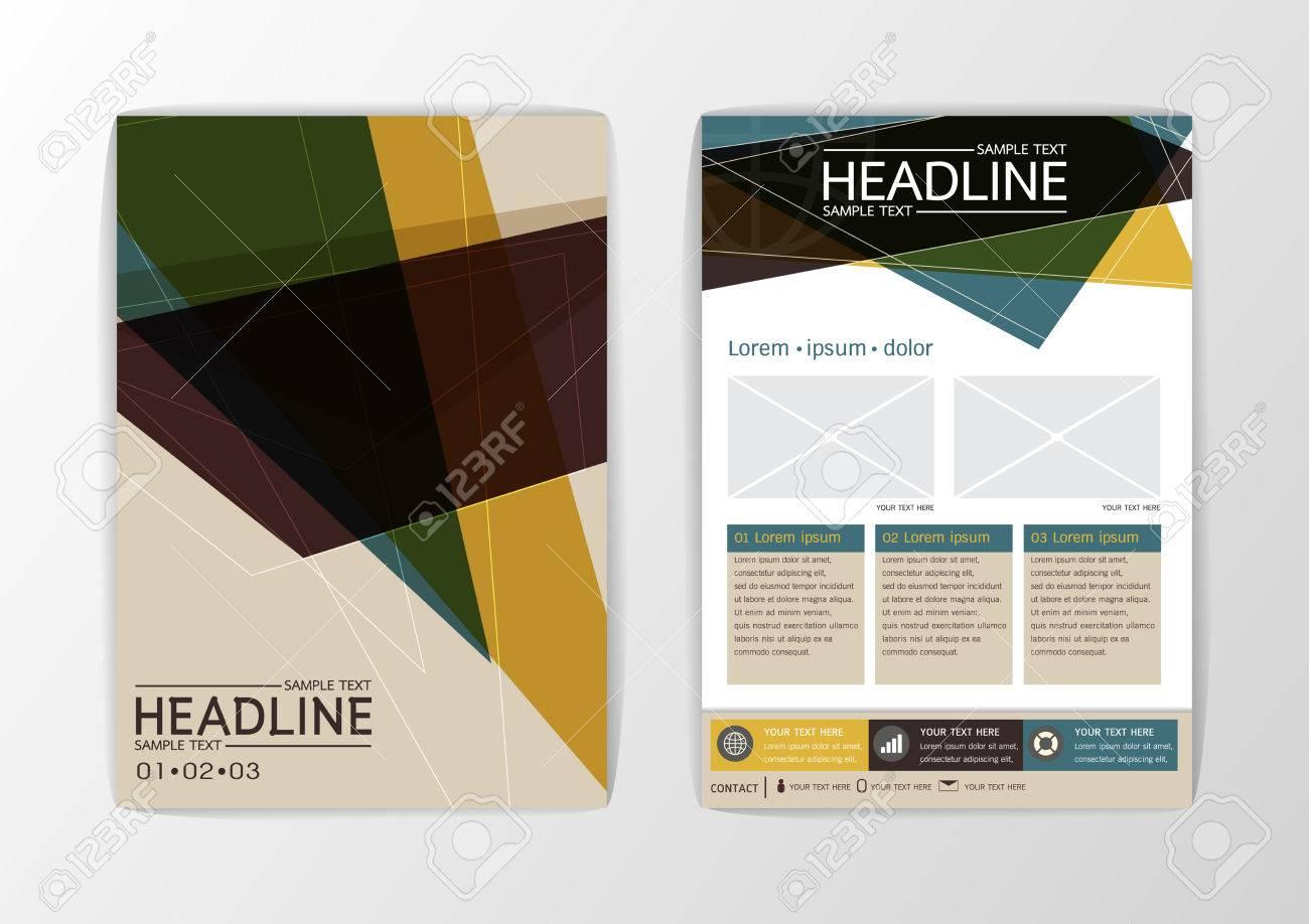 Business-Broschüre Vorlage Layout Zusammenfassung Hintergrund ...