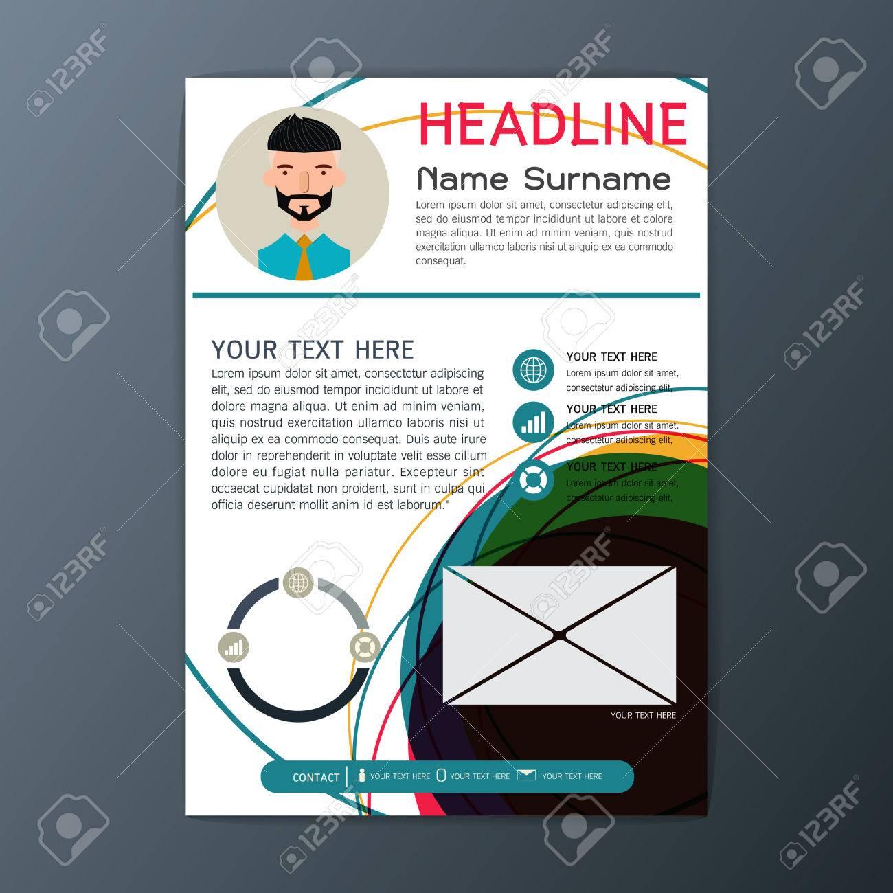 Modern flyer design magazine brochure business resume template