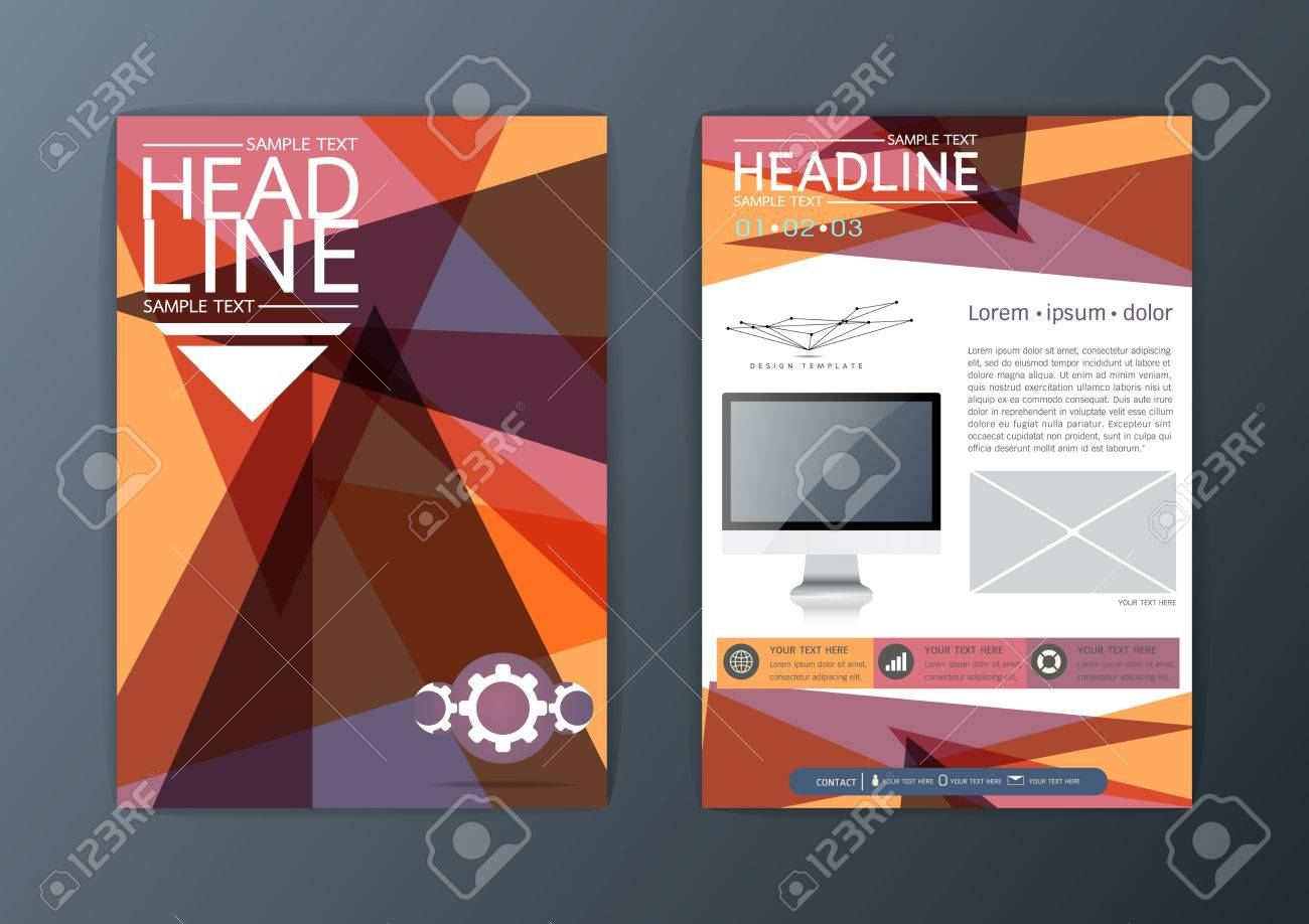 A4 Abstract Background Modernes Design Business-Broschüre Flyer ...