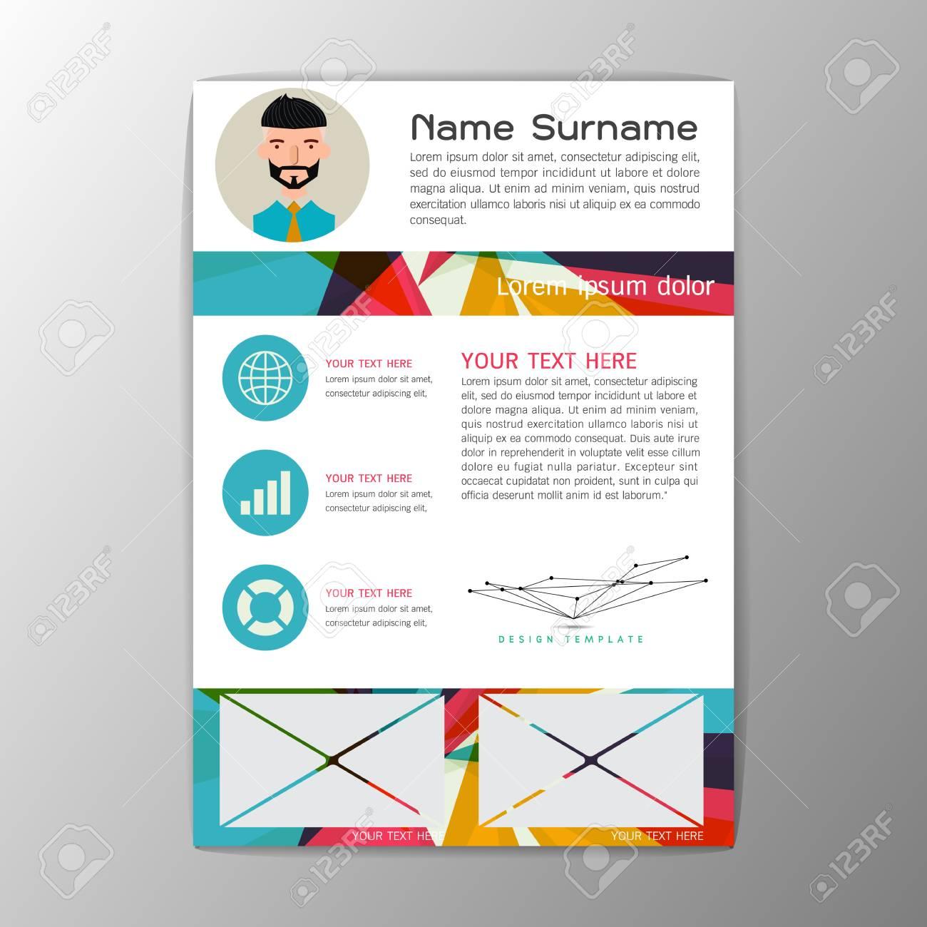 modern brochure business flyer design magazine resume template