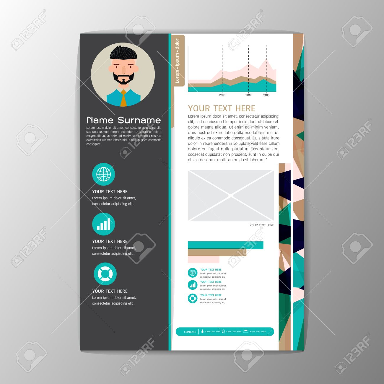 Modern Brochure Business Flyer Design Resume Template Magazine ...