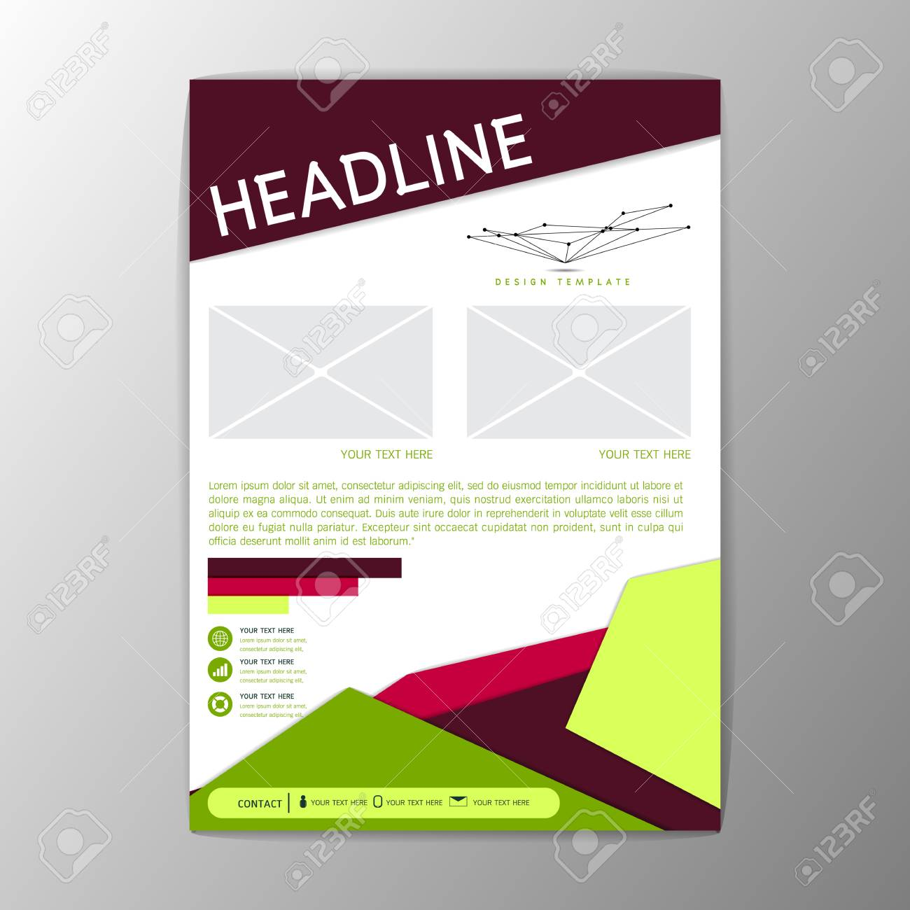 Modernes Design Flyer Magazin Broschüre Bericht Business-Template ...