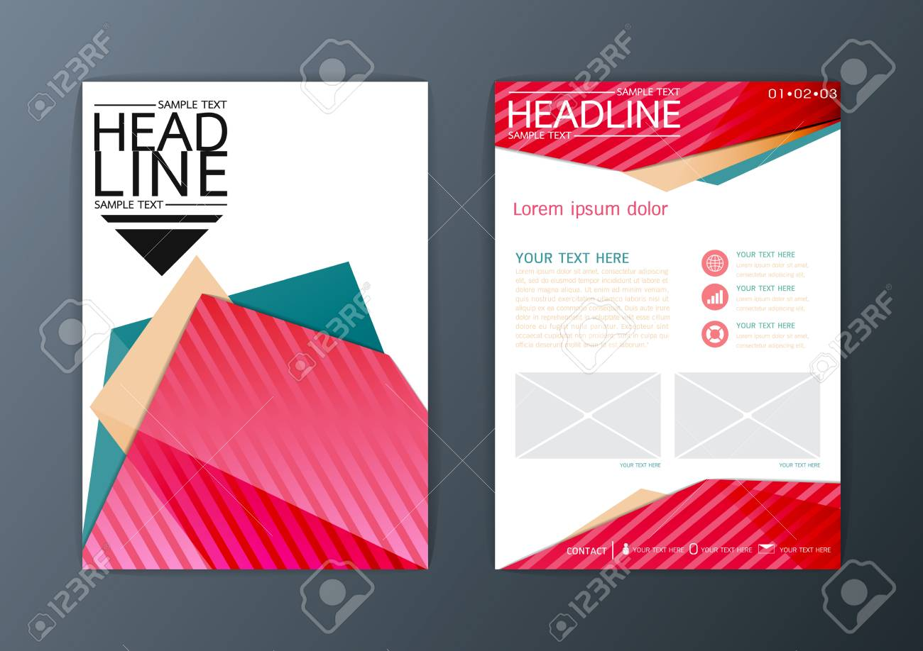 A4 Abstract Background, Business Brochure Flyer Layout Design ...