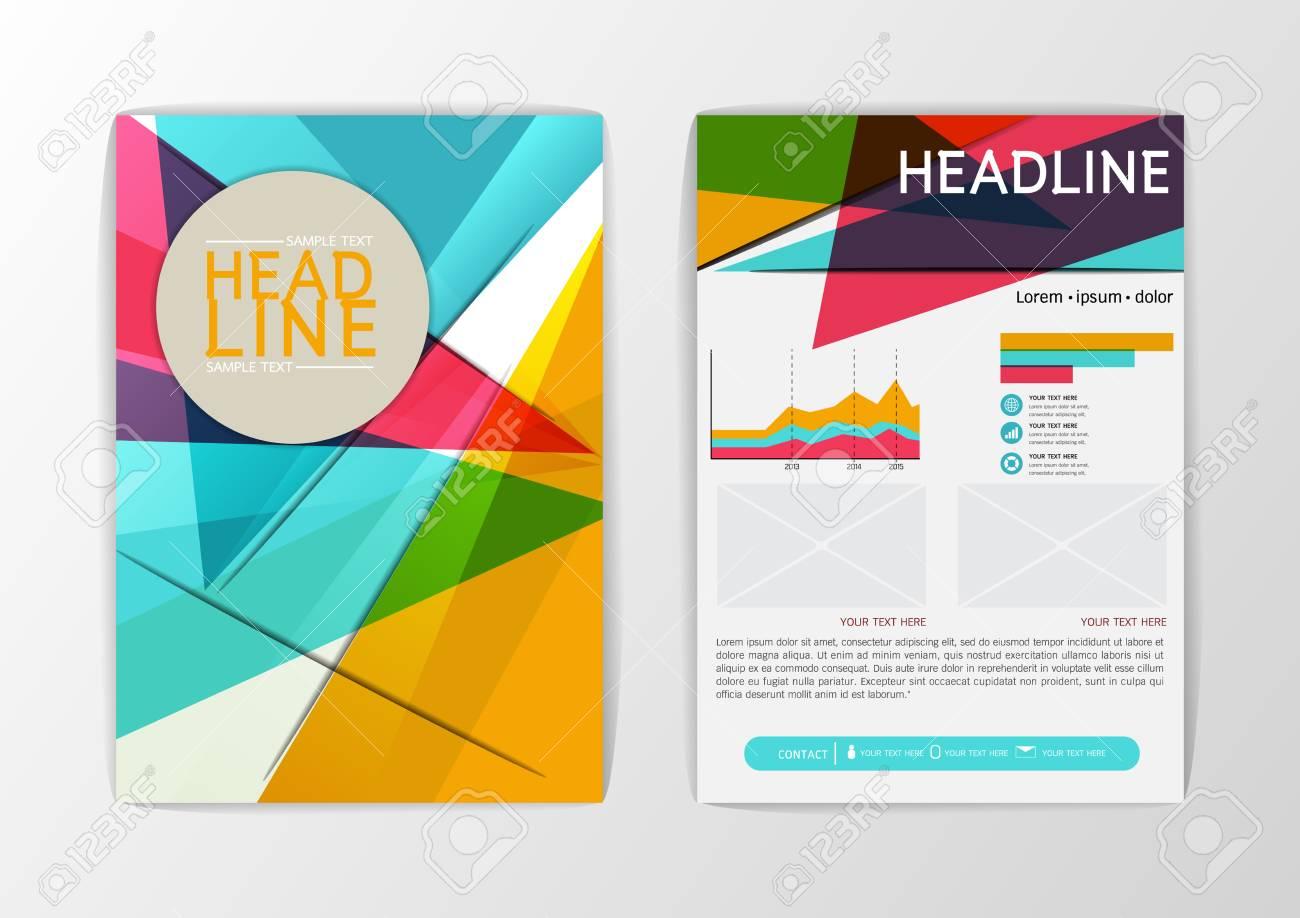 Moderne Hintergrund Design, Broschüre Vorlage, Flyer, Magazin, DIN ...