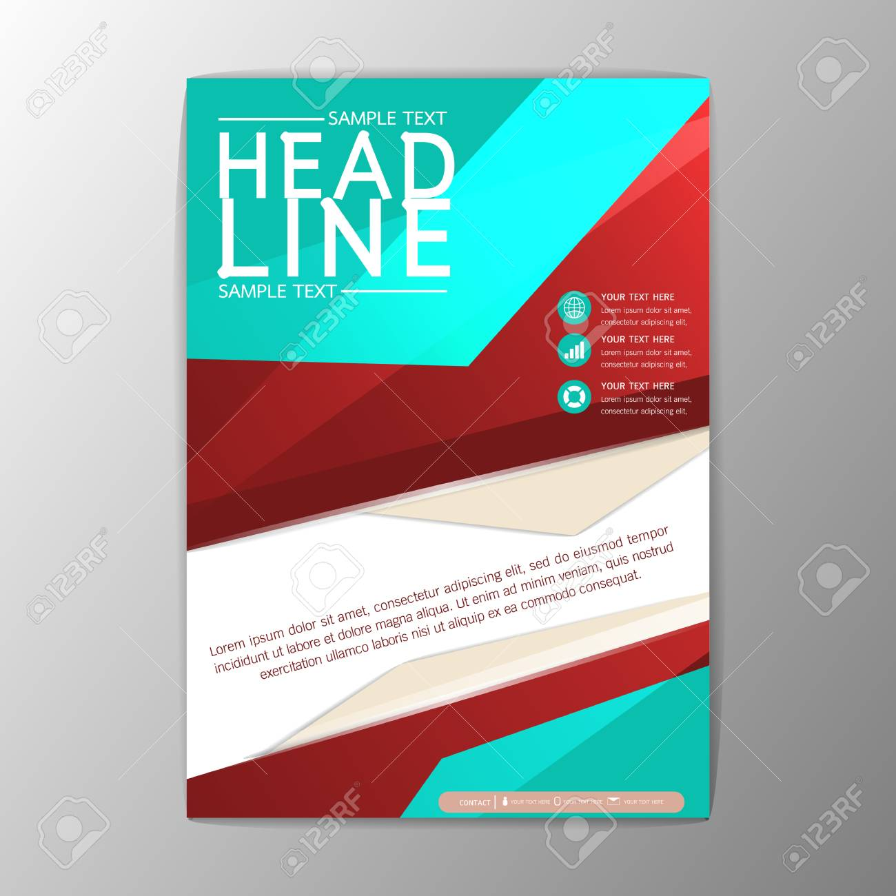 Modernes Design, Magazin, Broschüre, Flyer, Business-Template ...