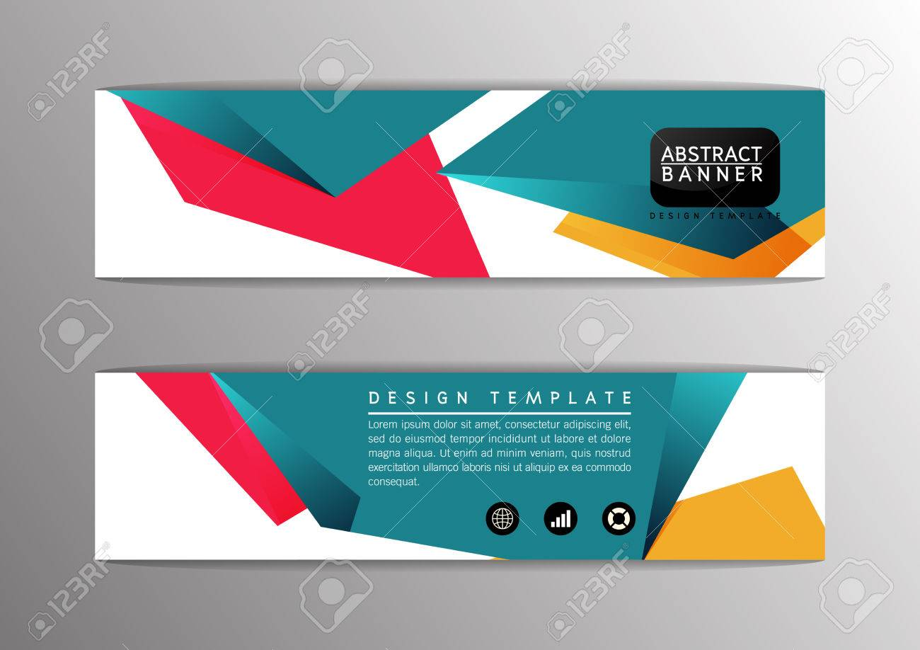 abstract modern design banner template site vector illustration