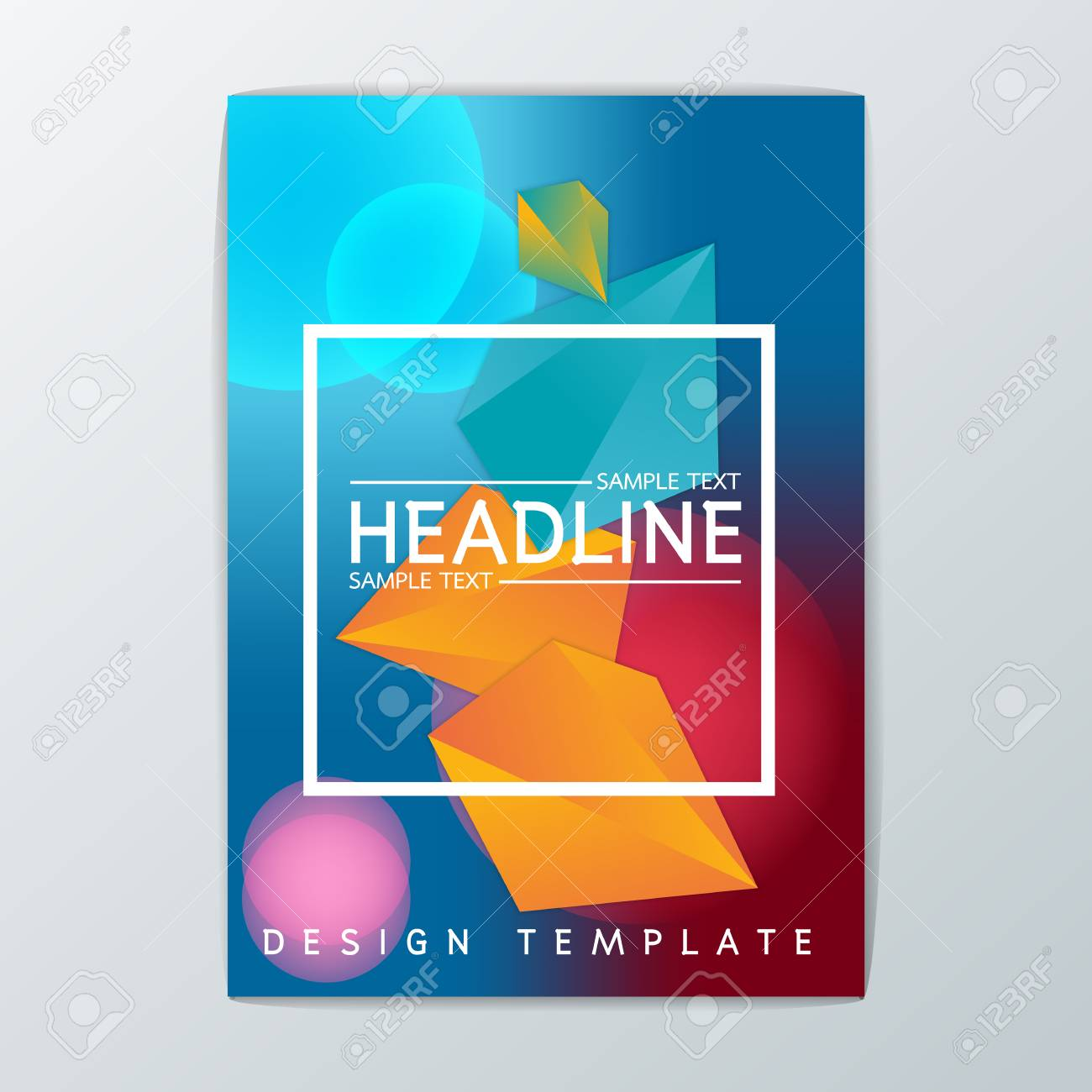 vector abstract brochure background design template flyer layout