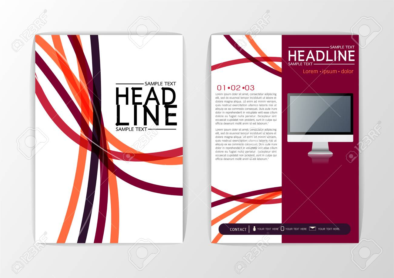a4 size abstract cover background design brochure template flyer